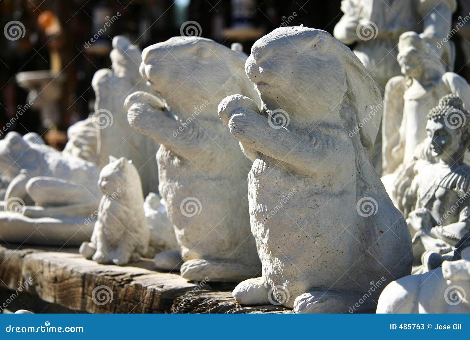 керамические горизонтальные кролики