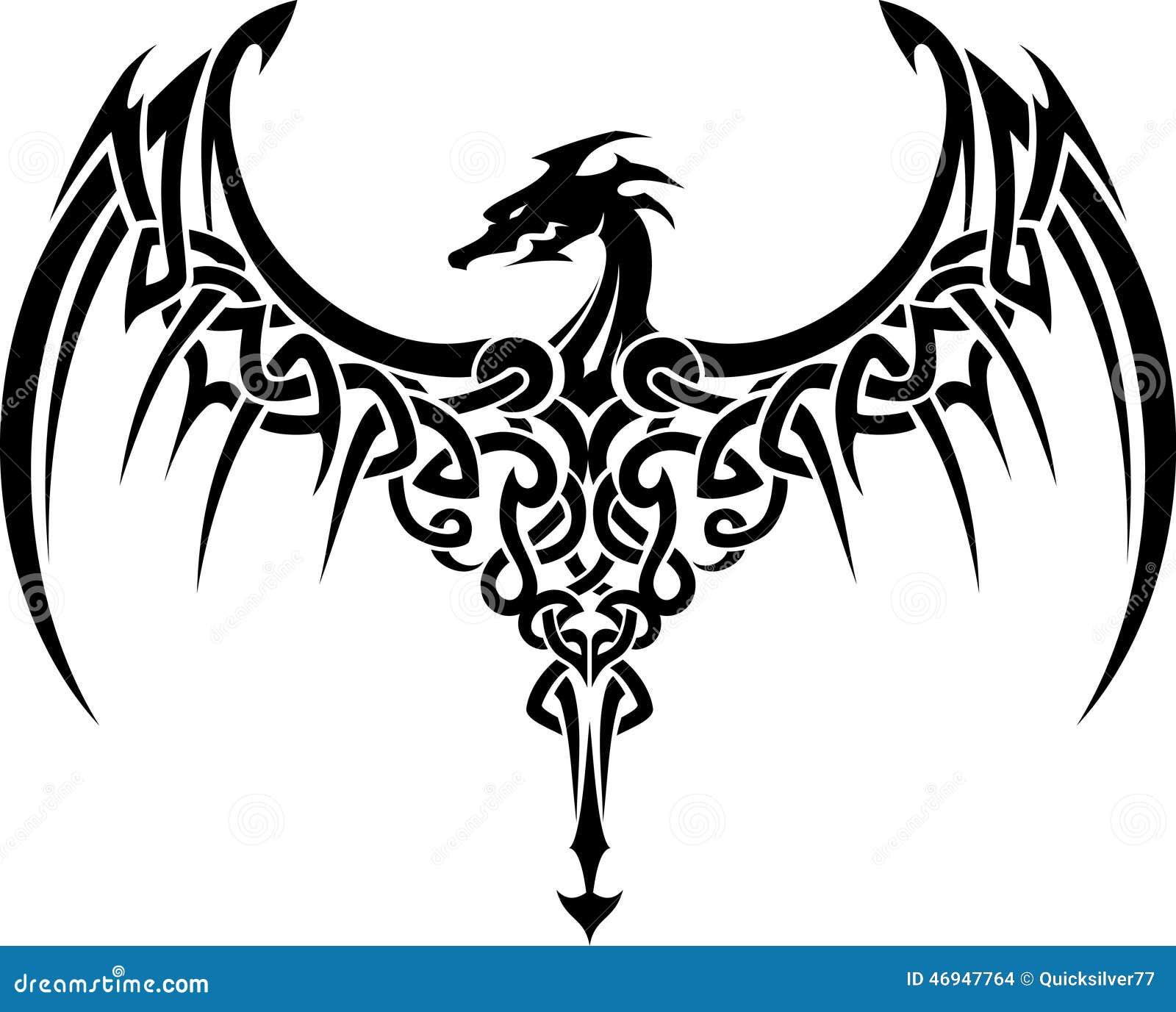 Дракон кельтский рисунок