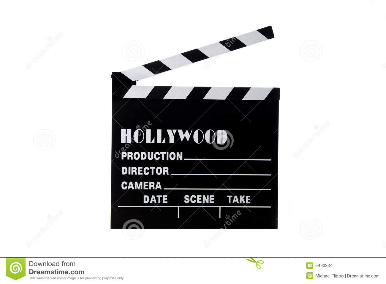 кино hollywood clapboard