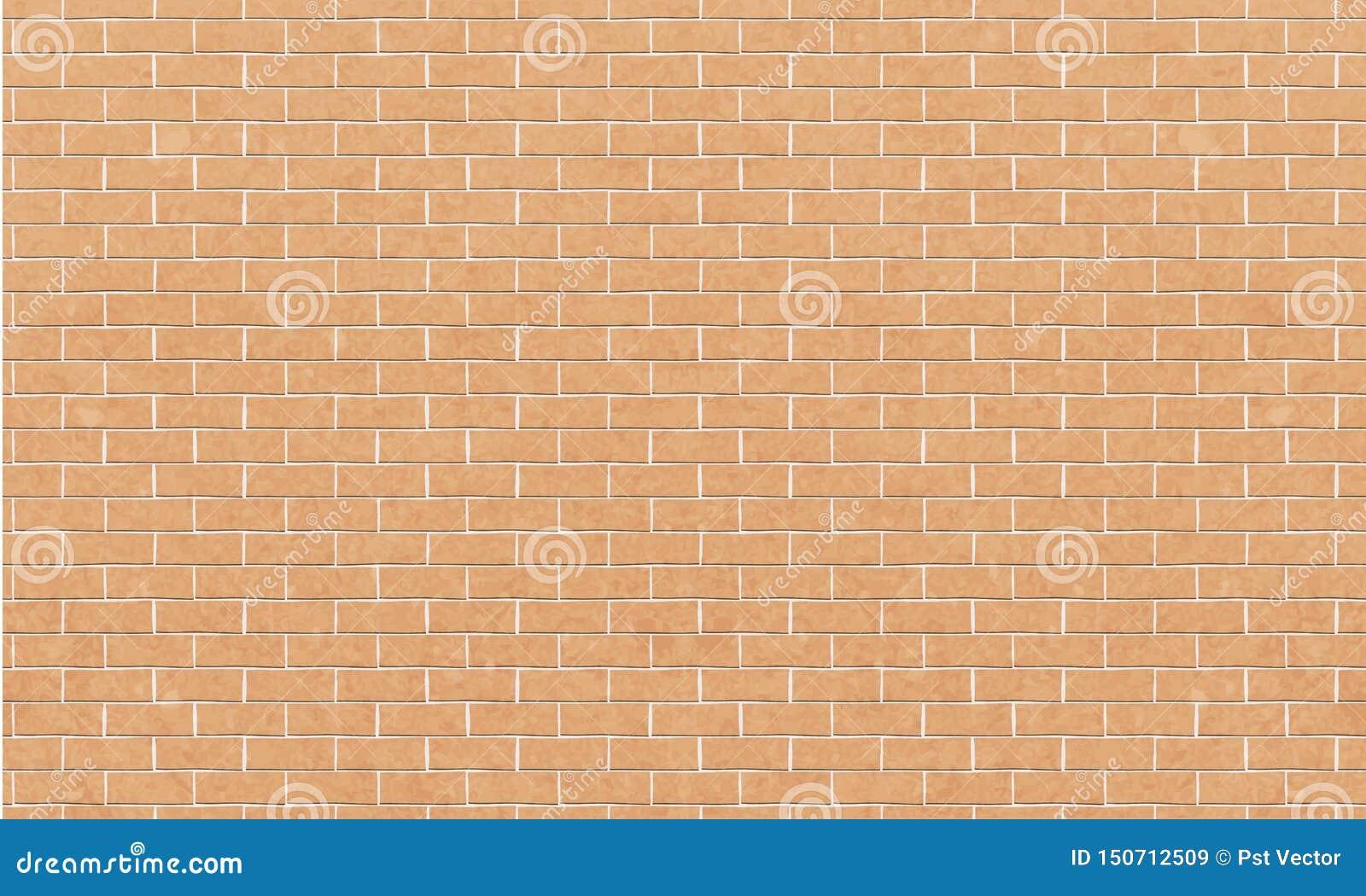 Кирпичная стена, желтая белая предпосылка текстуры стены кирпичей для графического дизайна, вектора
