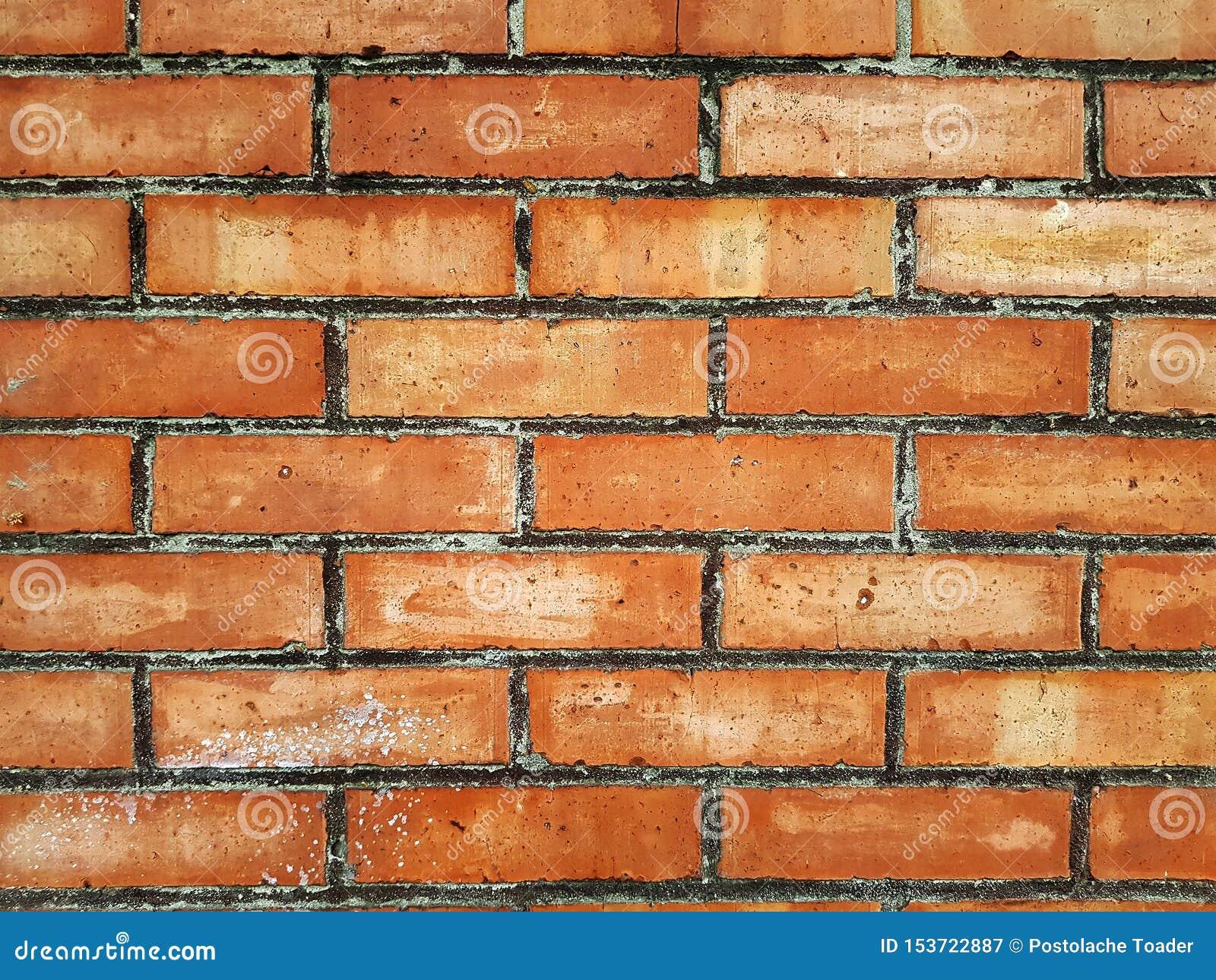 Кирпичная стена красного цвета, широкой панорамы masonry Предпосылка старой винтажной кирпичной стены