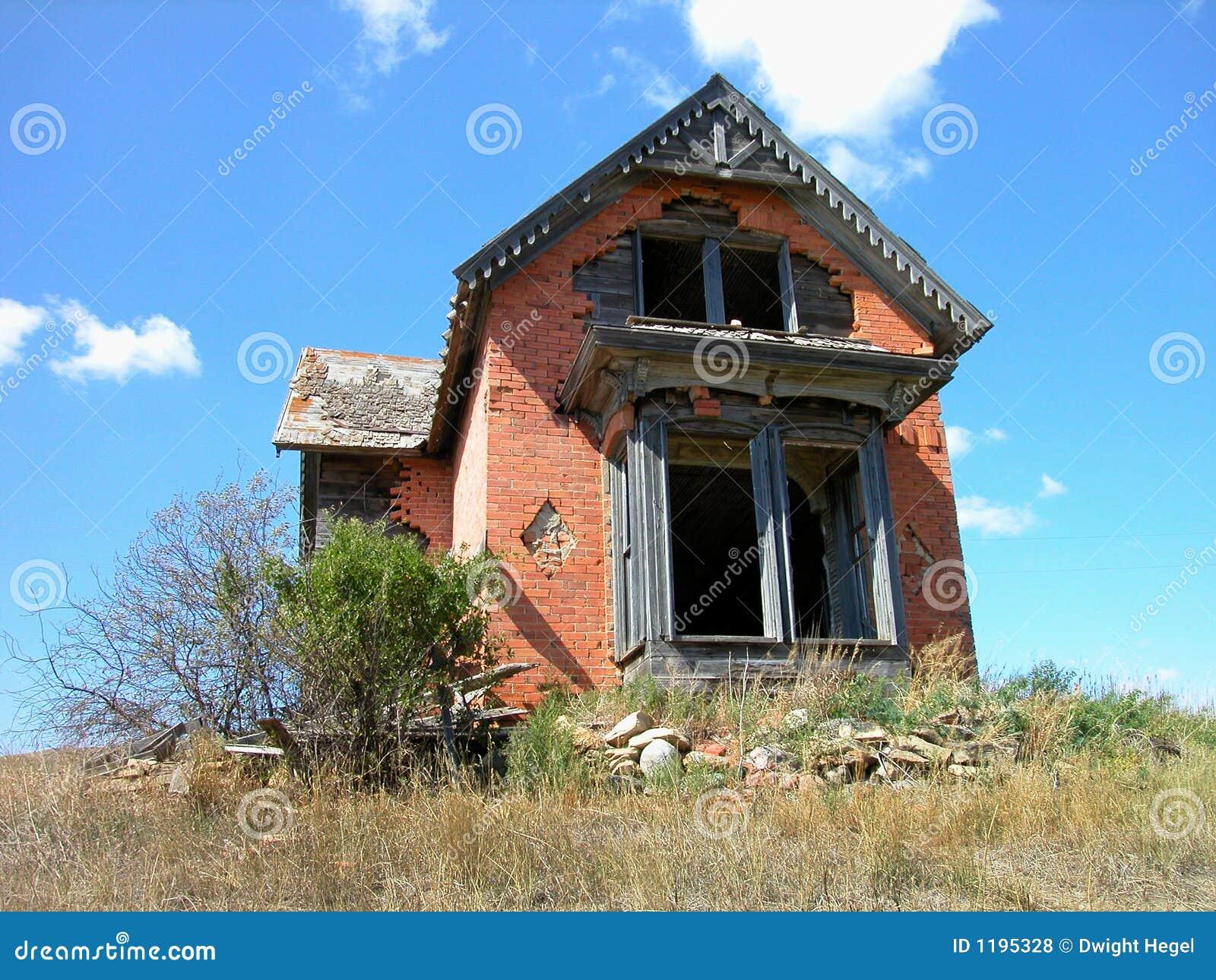 кирпич antique dilapidated дом