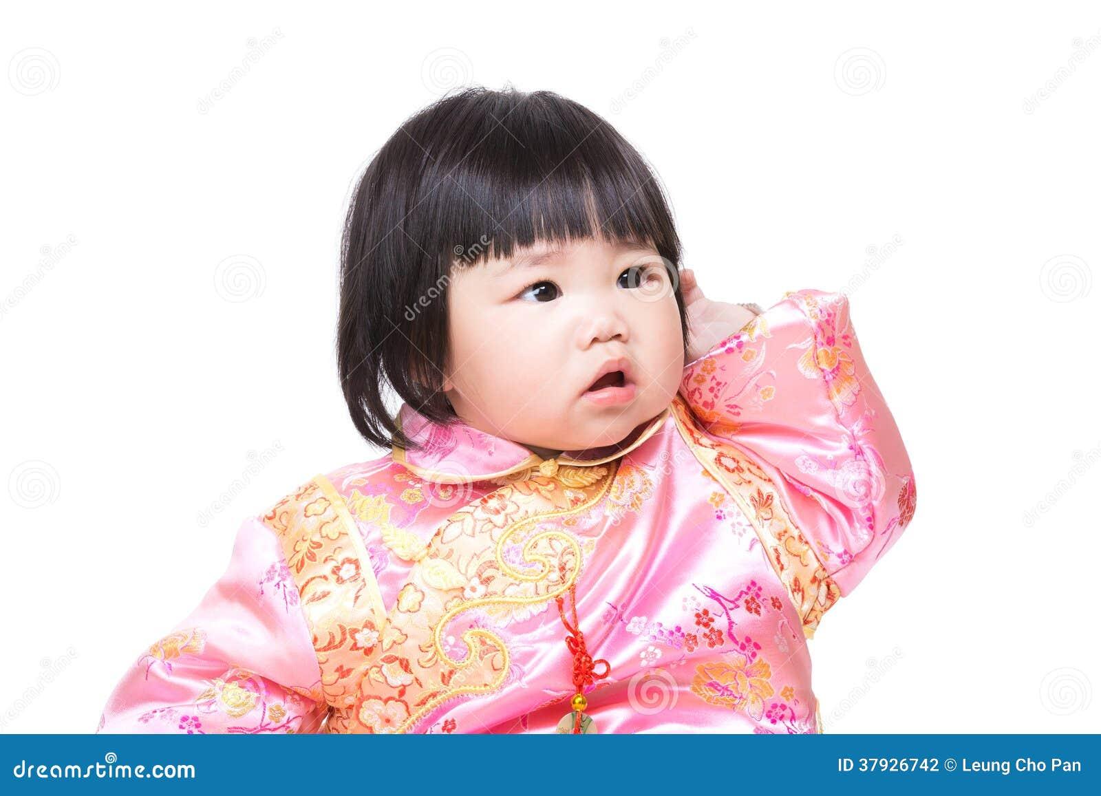 Китайская голова царапины ребёнка