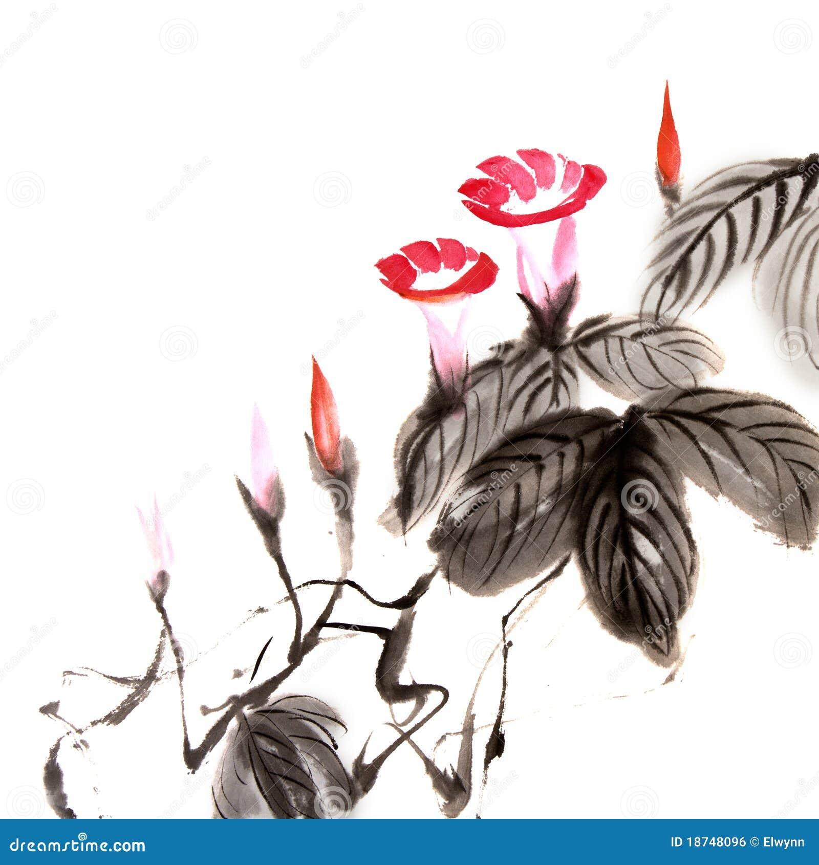 китайская картина цветка