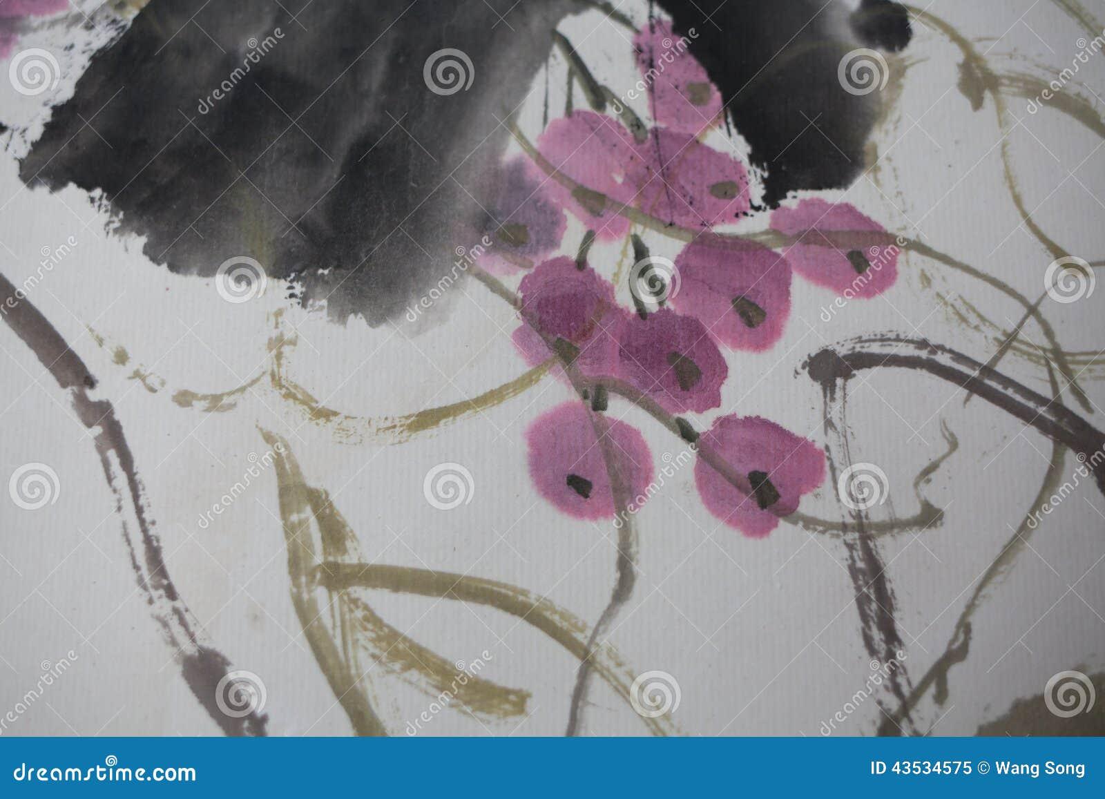 Китайская роспись на бумаге, местной