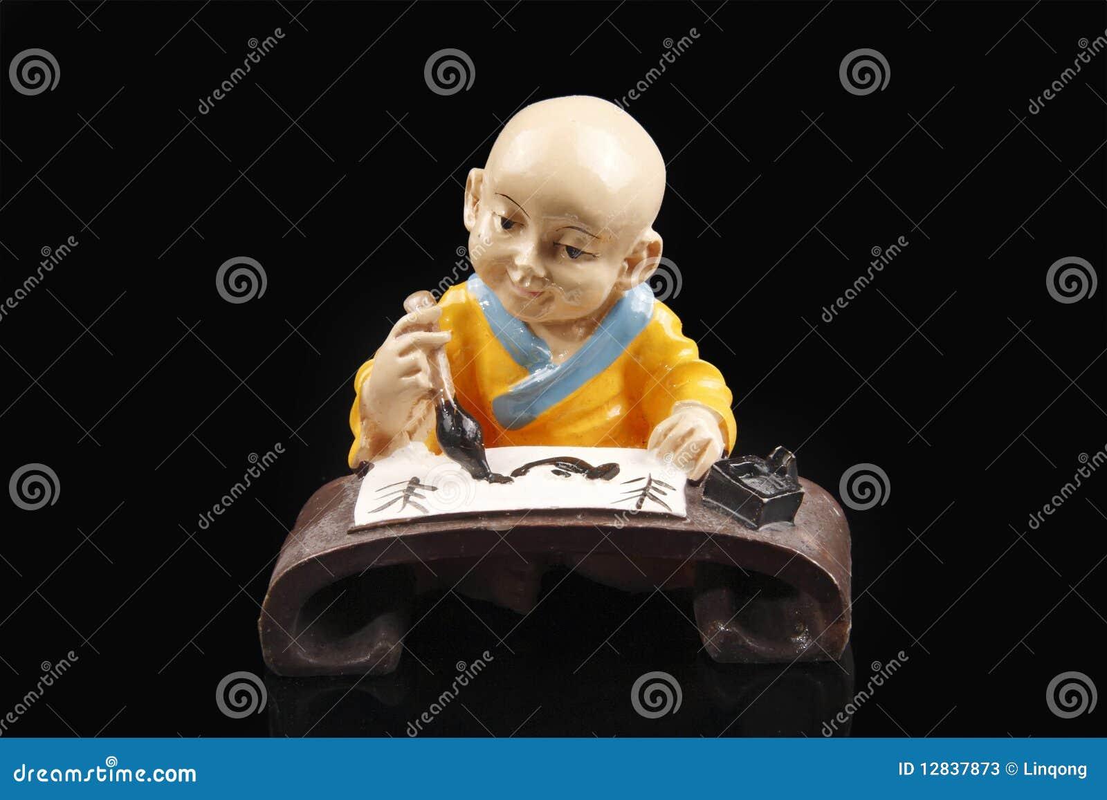 китайская скульптура монаха