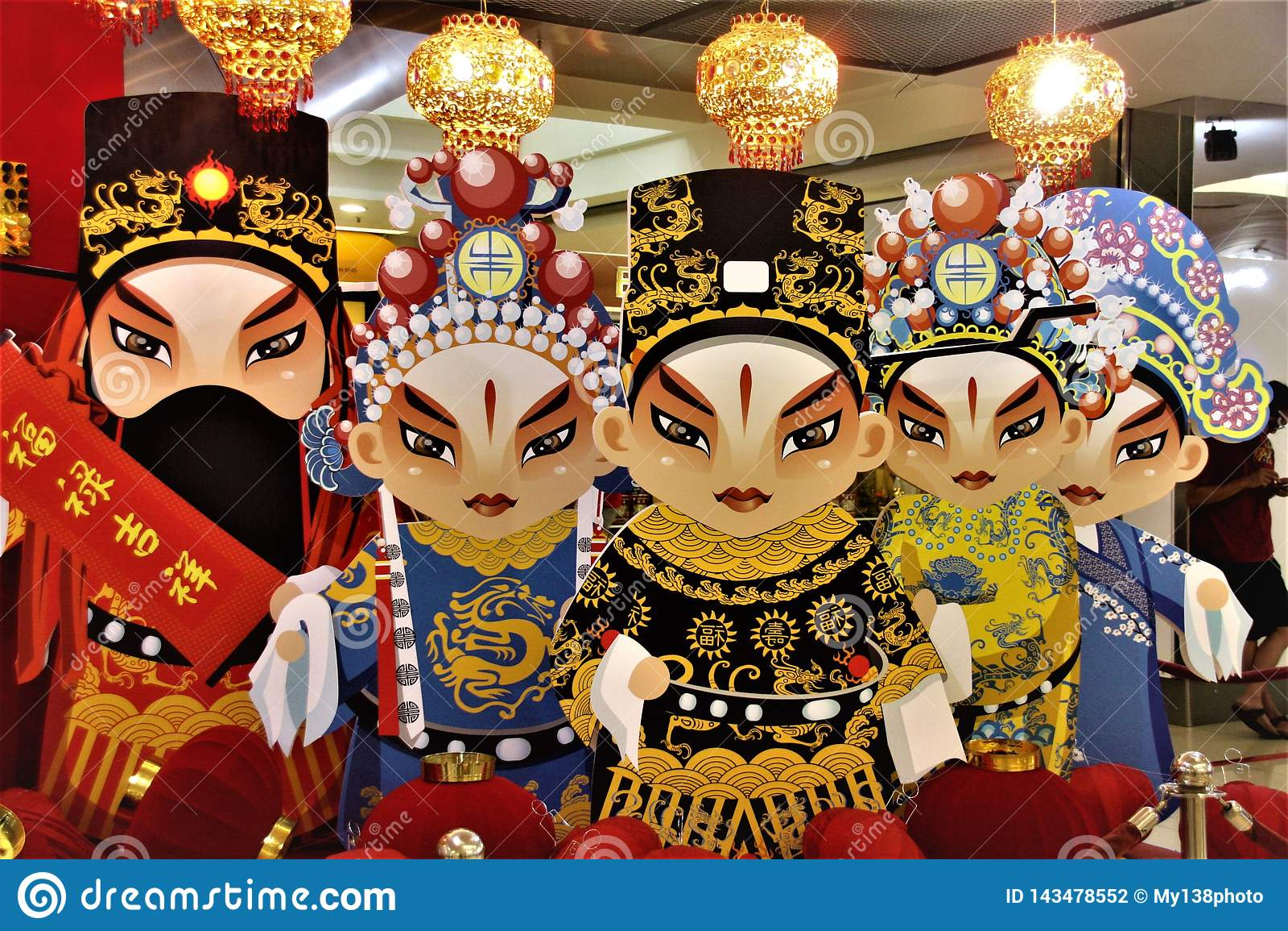 Китайская статуя бумаги оперы