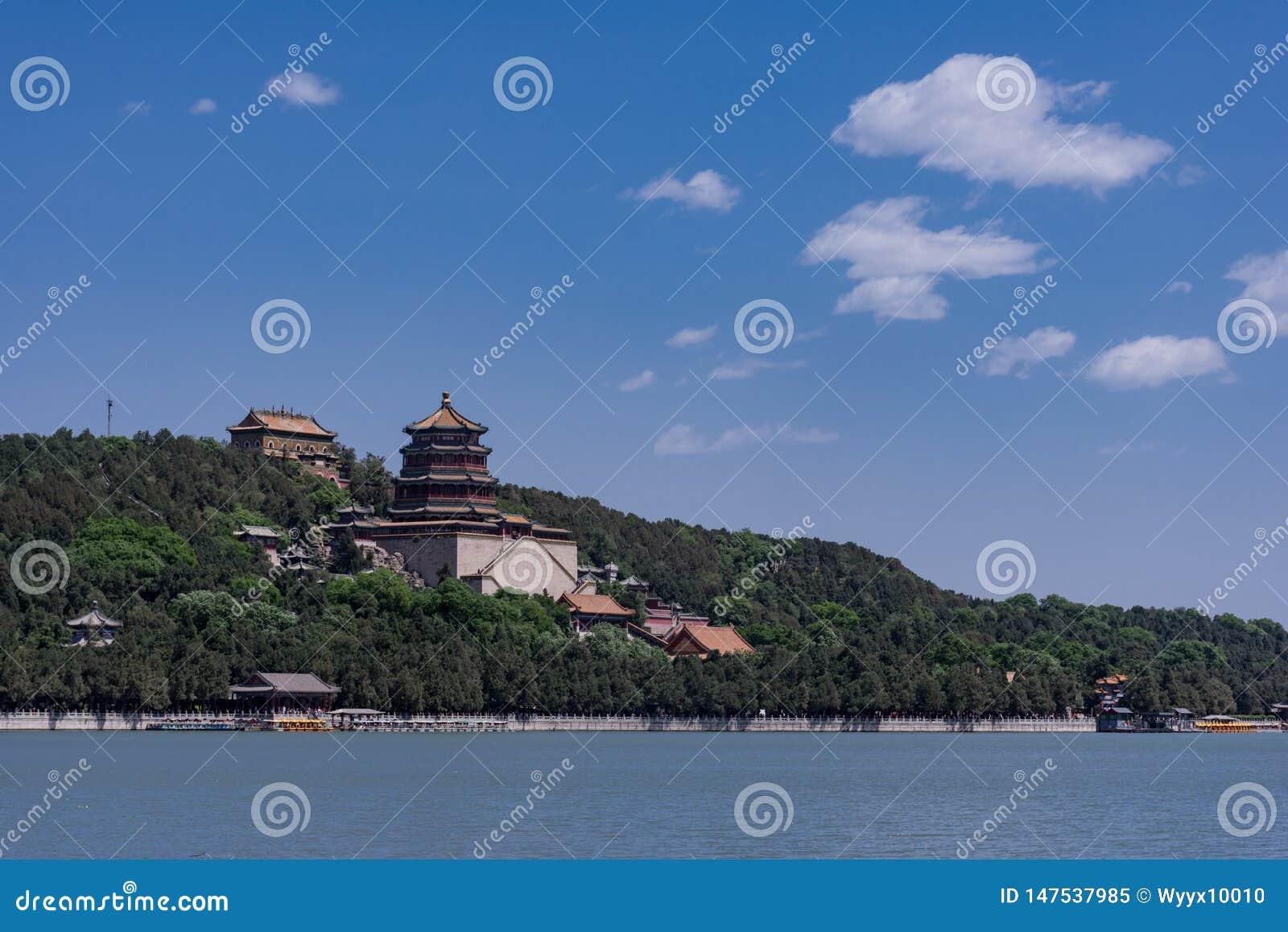 Китайский королевский взгляд летнего дворца сада