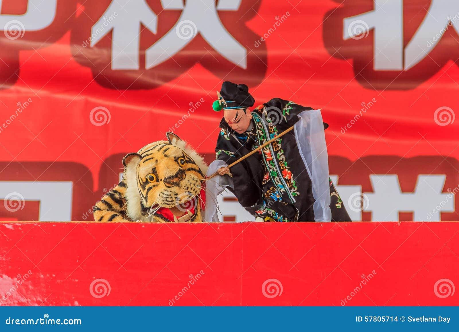 Китайский кукольный театр руки