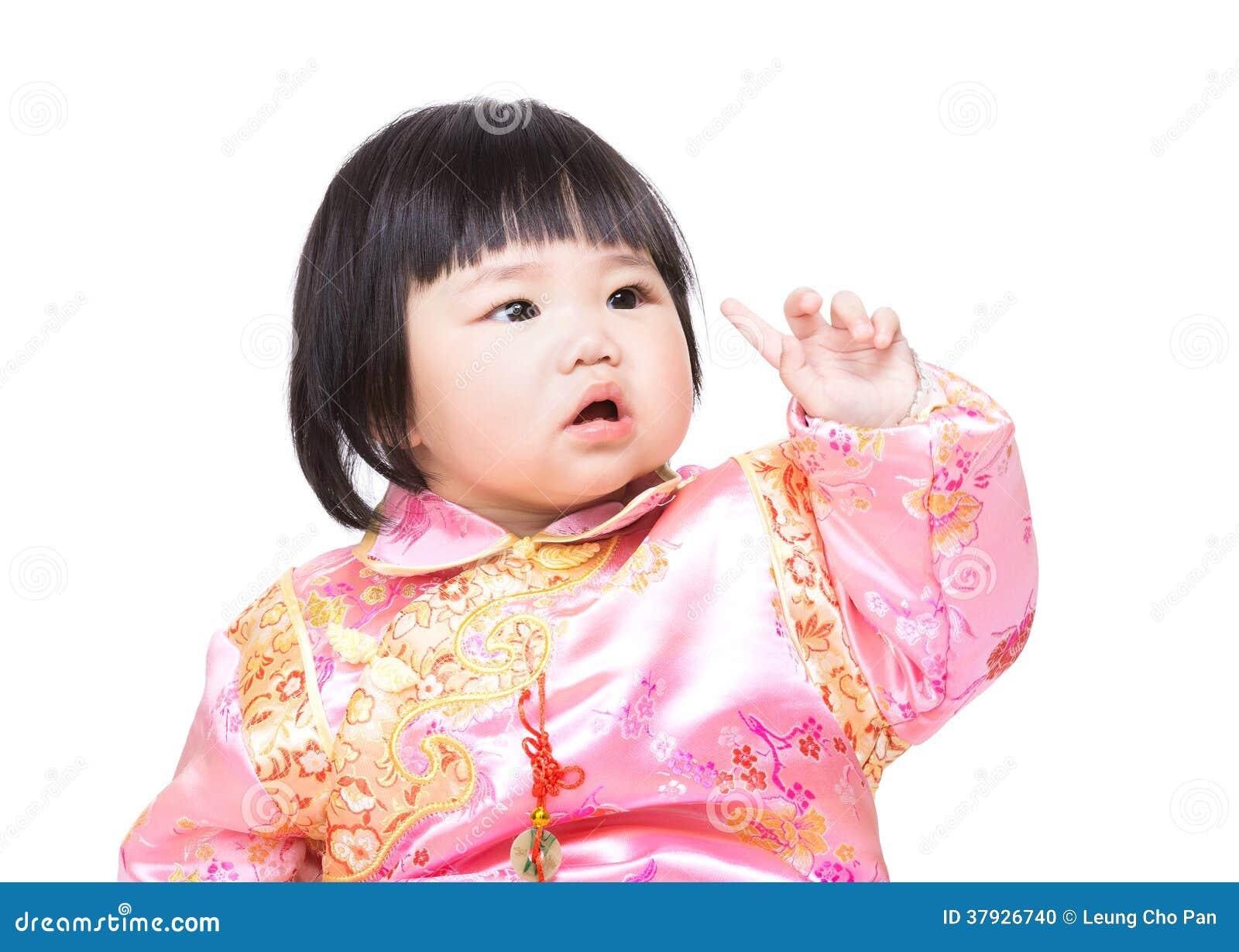 Китайский пункт пальца младенца вверх