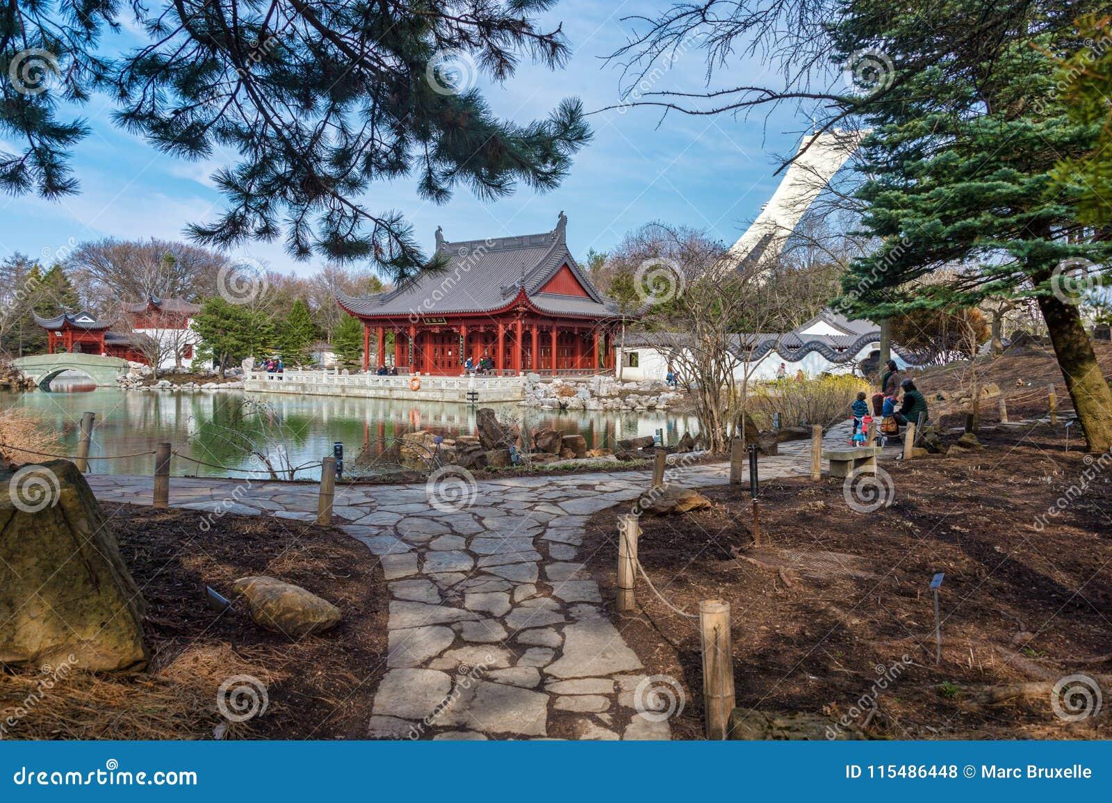 Китайский сад сада Монреаля ботанического