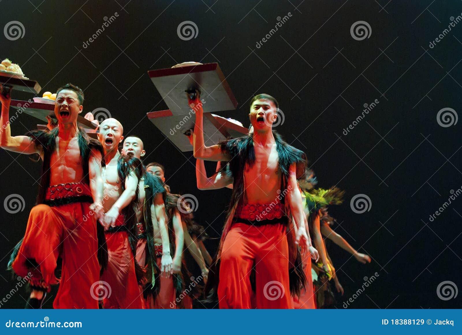 китайский танцор этнический