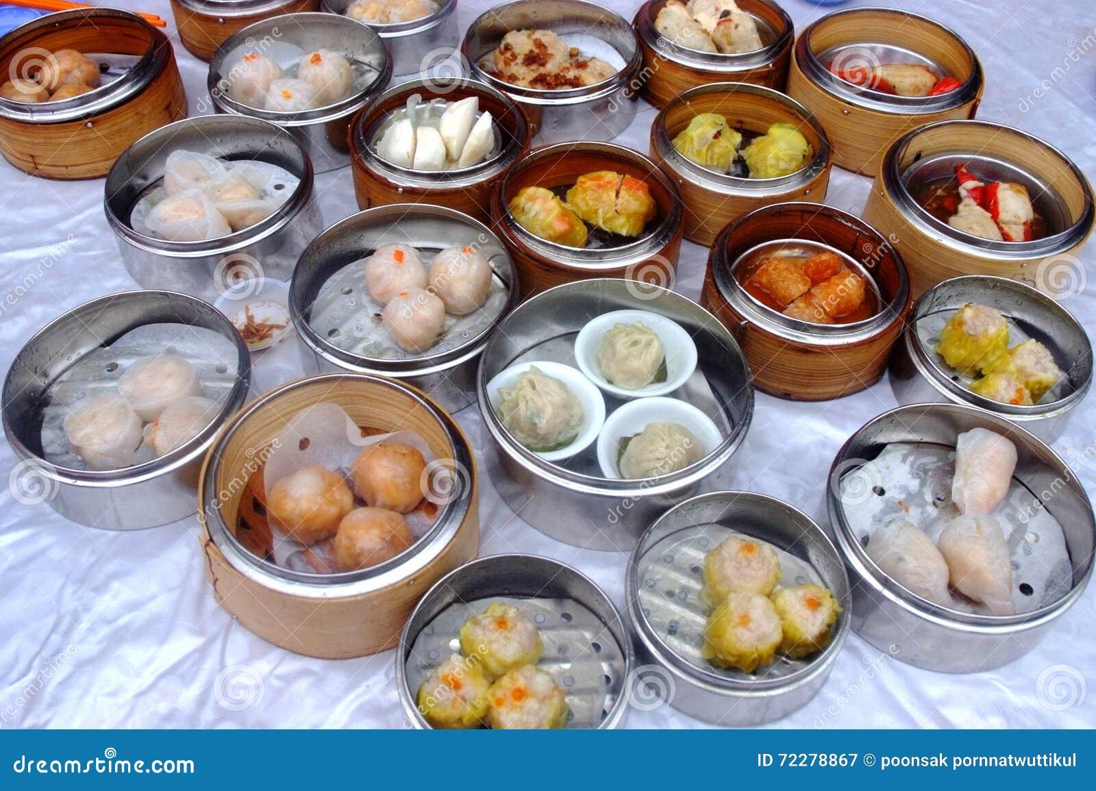 Download китайское испаренное Dimsum Стоковое Изображение - изображение насчитывающей arranger, рыбы: 72278867