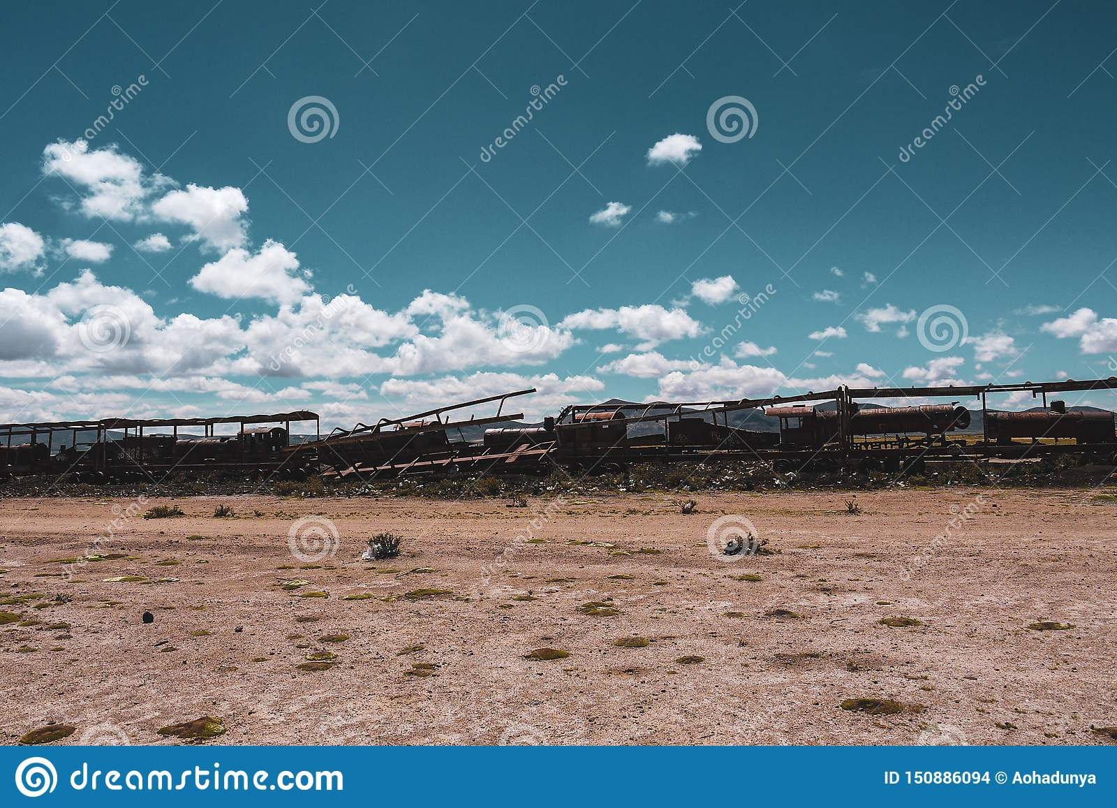 Кладбище поезда в Саларе de Uyuni