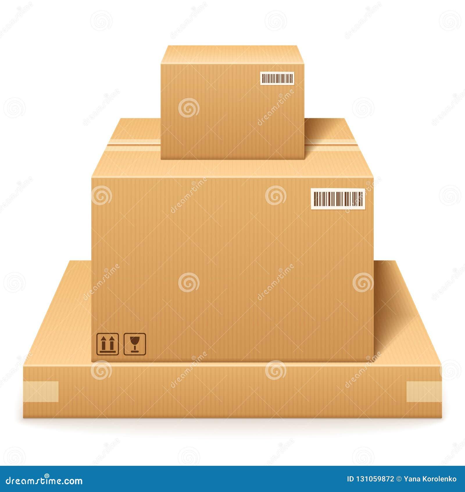 кладет картон в коробку 3 Обслуживание доставки и хранения пакета в запасе