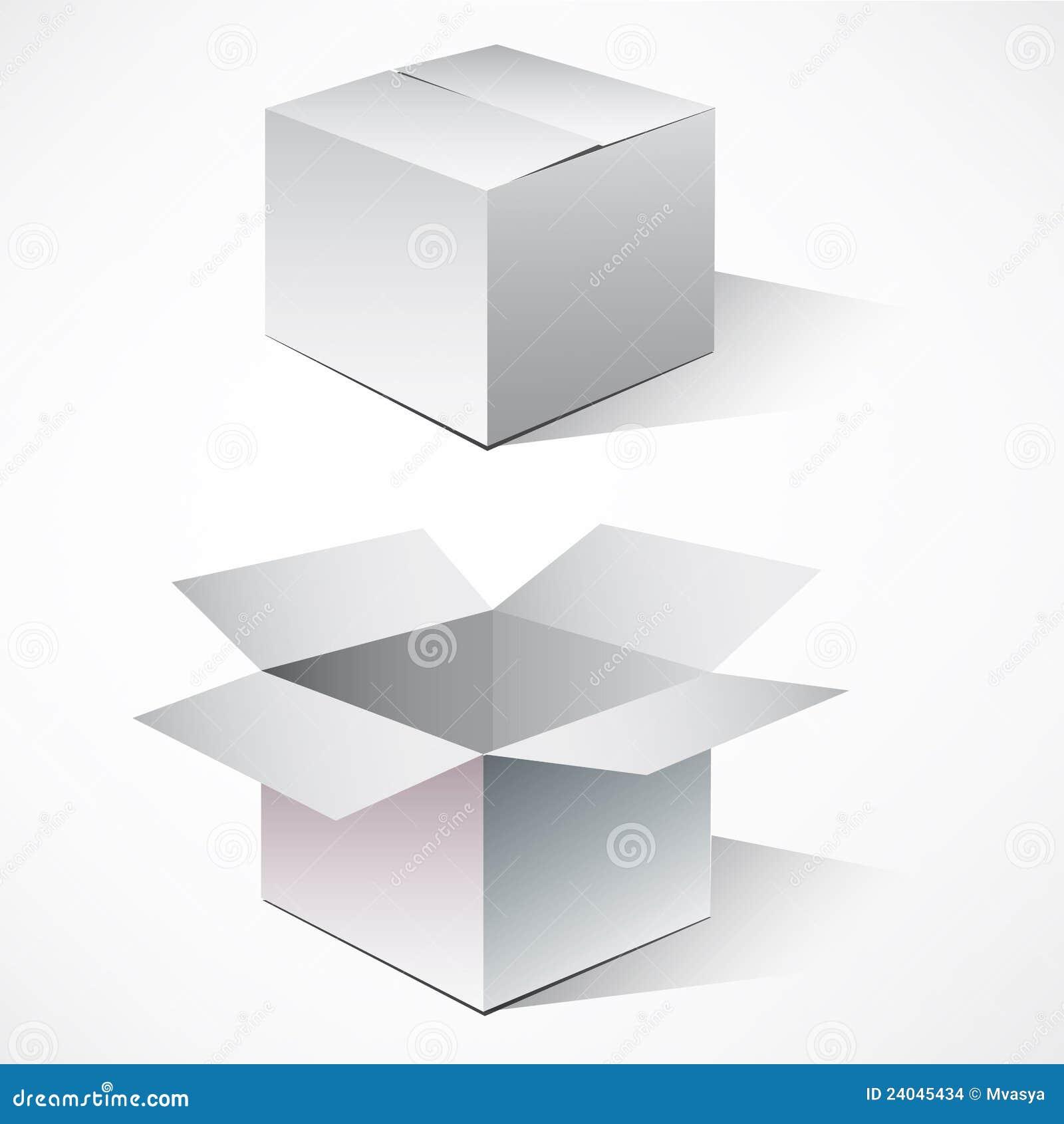 кладет картон в коробку