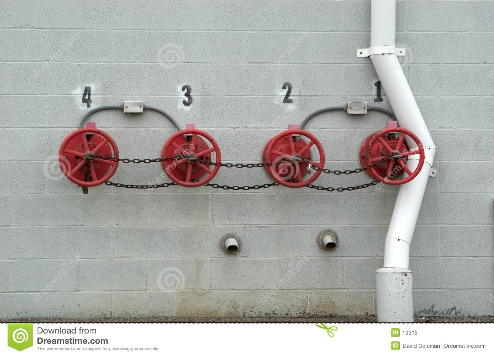 клапаны спринклера выключения