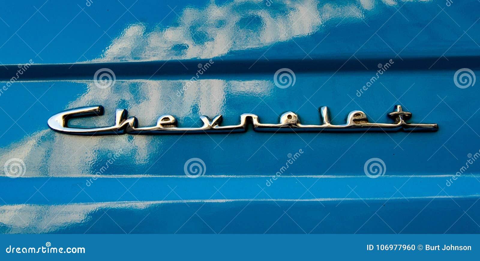 Классический американский голубой логотип Chevy