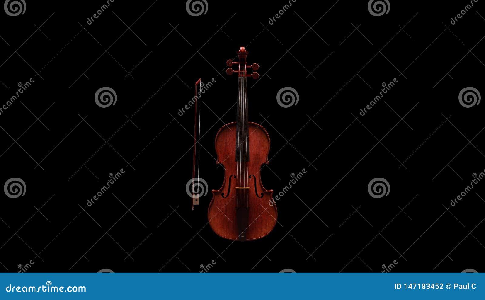 Классический вид спереди скрипки