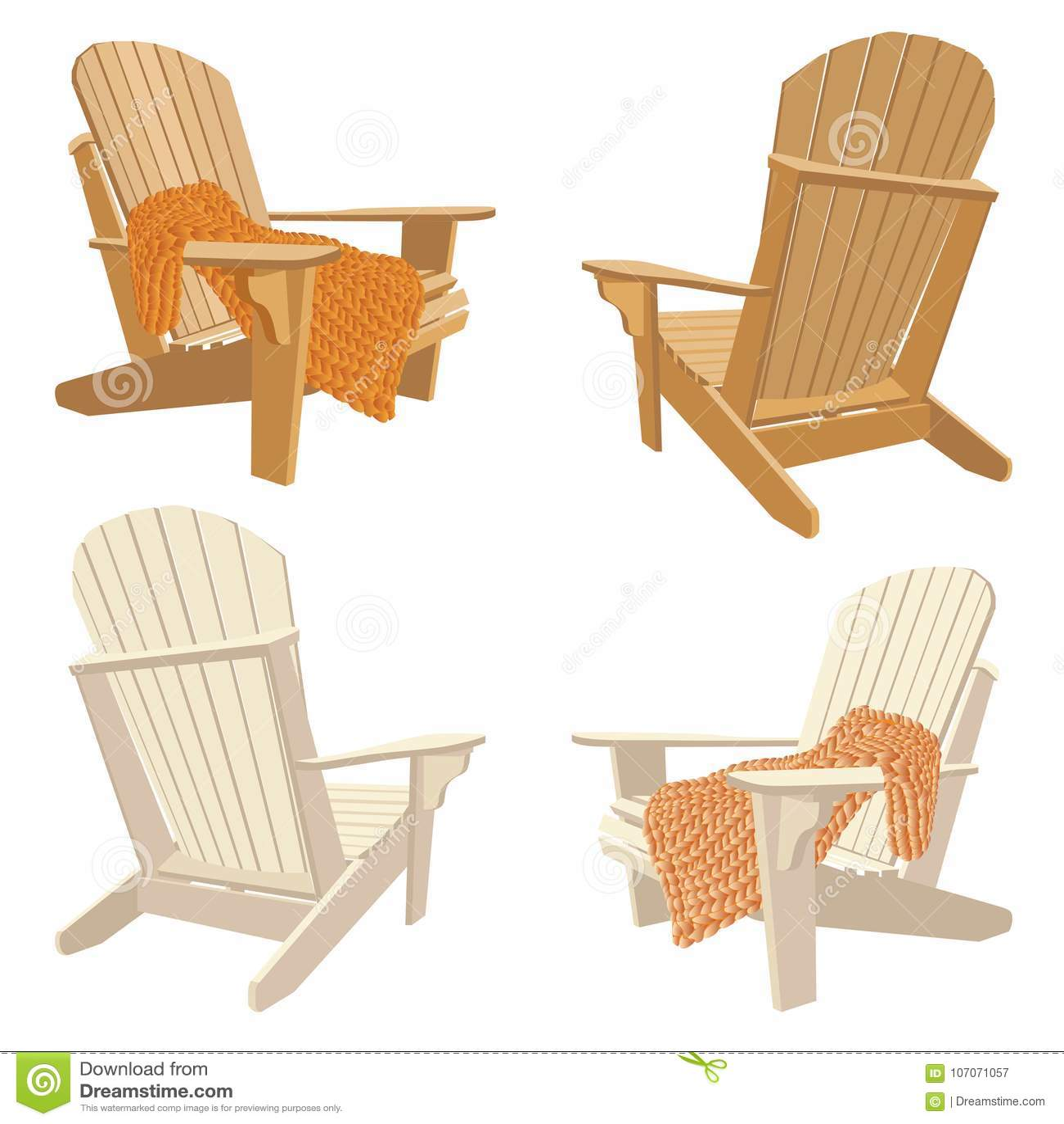 Классический деревянный внешний стул с коренастой шотландкой knit Комплект мебели сада в стиле adirondack