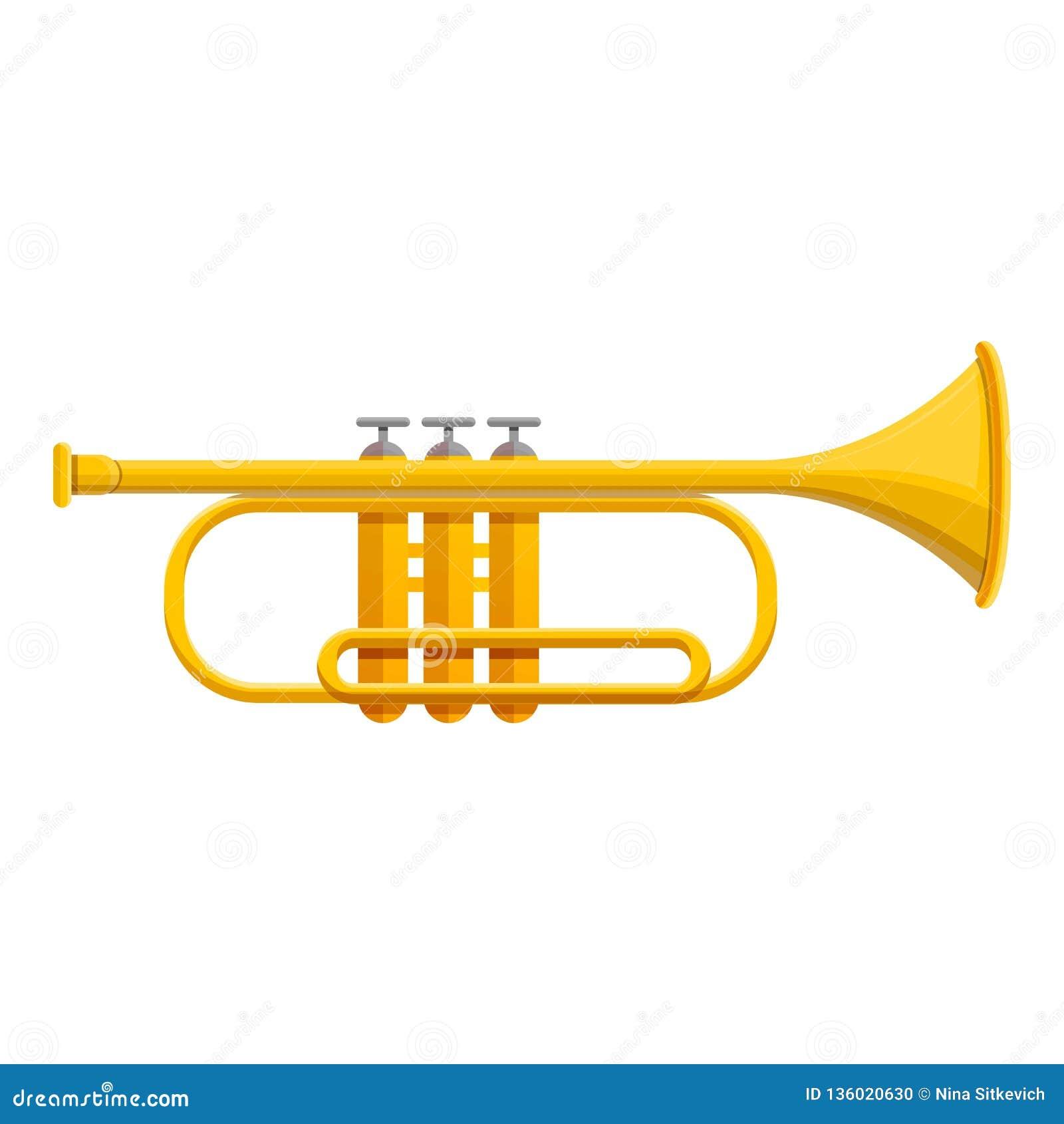 Классический значок трубы, стиль мультфильма