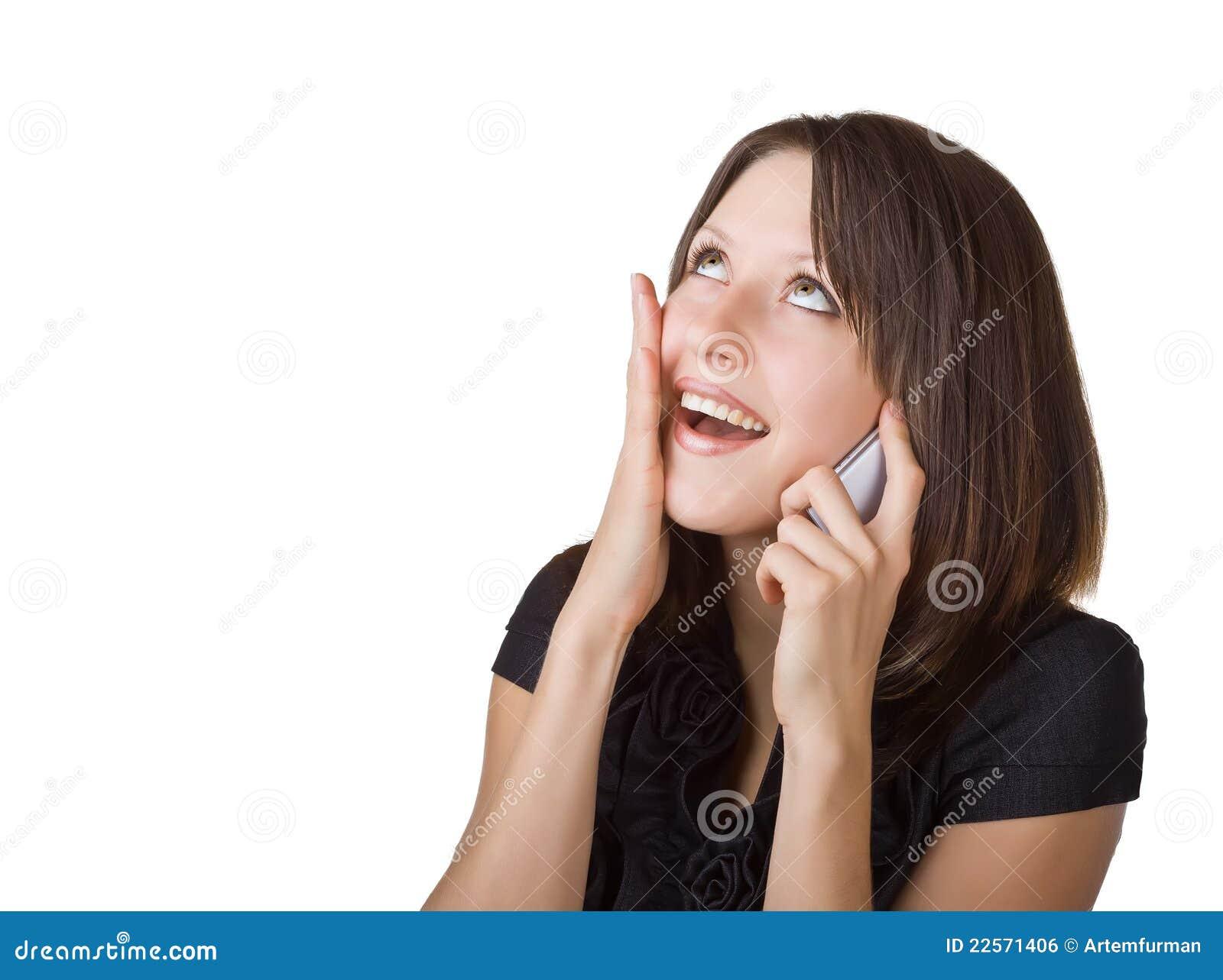 клетка ее женщина телефона говоря
