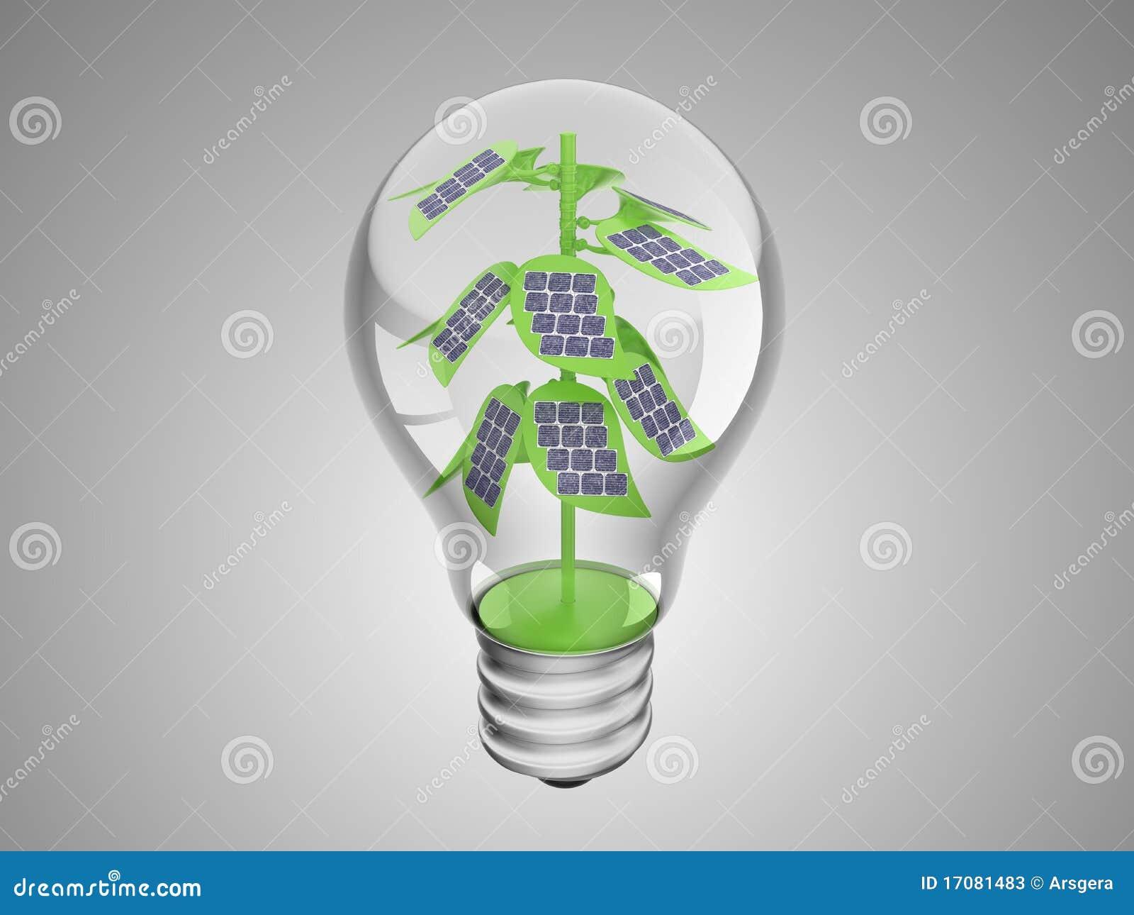 клетки зеленеют внутренний завод lightbulb солнечный