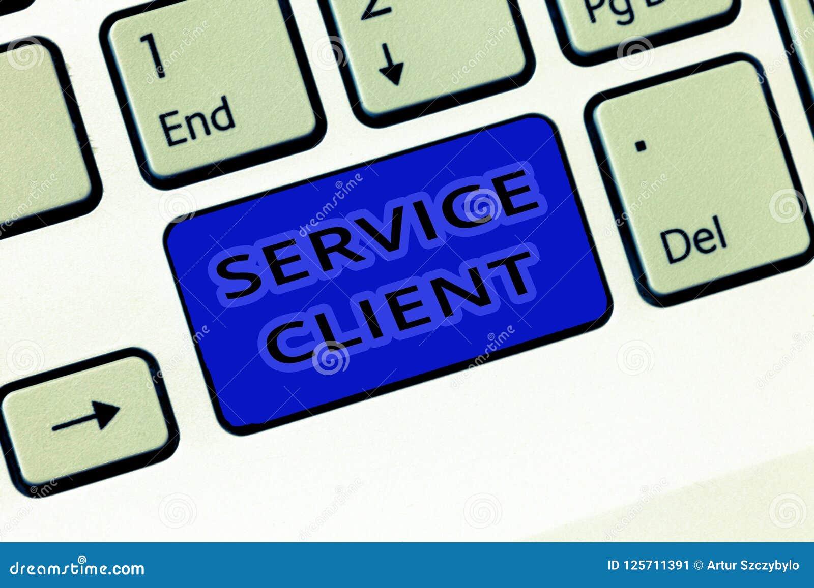 Клиент обслуживания текста почерка Смысл концепции общаясь с удолетворением потребностей клиента и потребностями эффективно