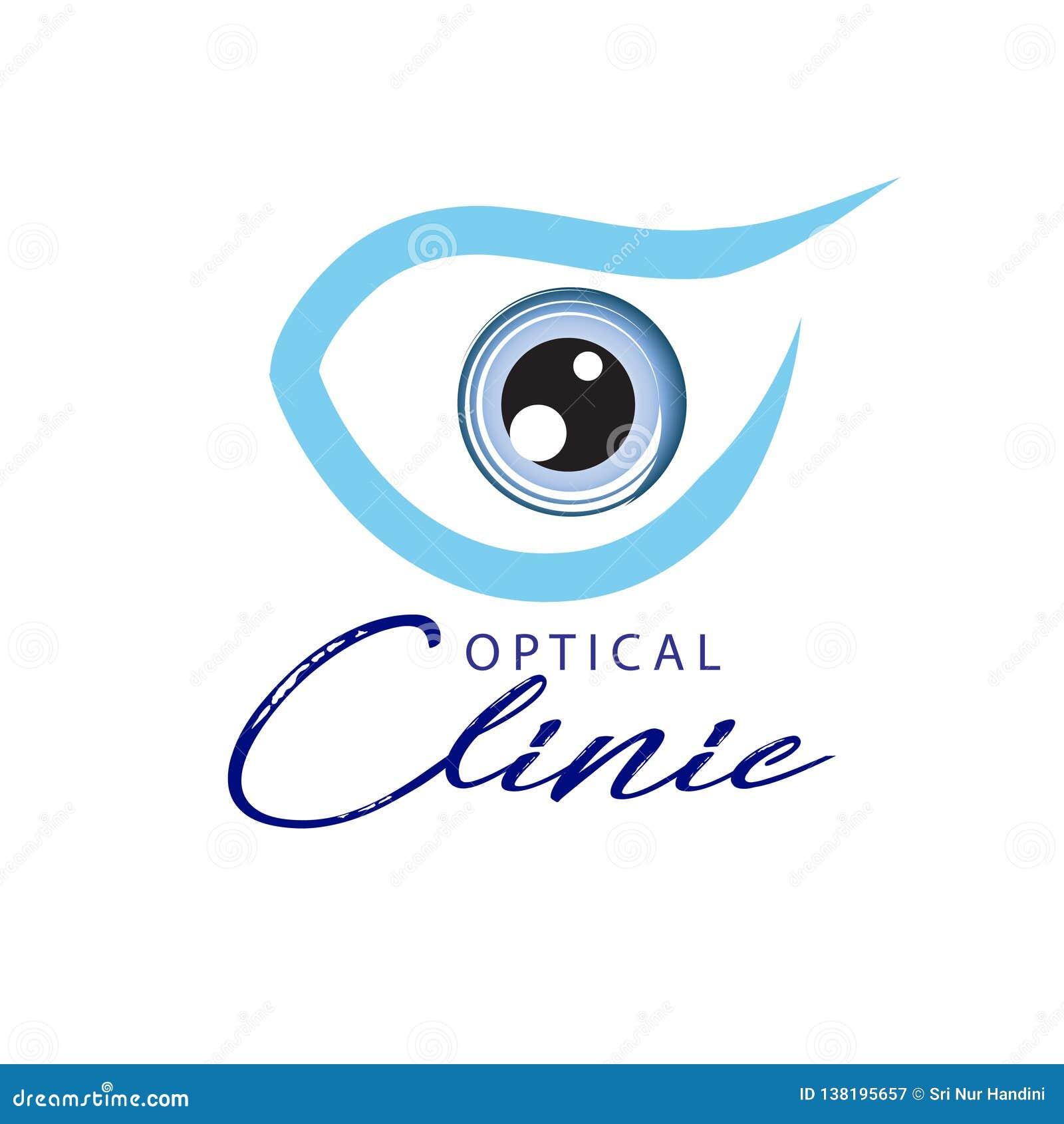Клиника логотипа оптически Идея для офтальмической клиники или клиники глаза