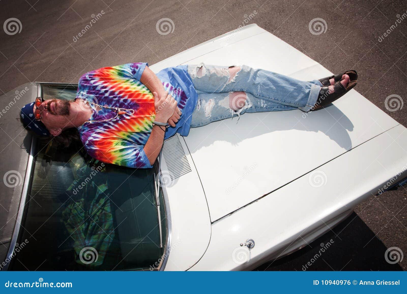 клобук hippie автомобиля