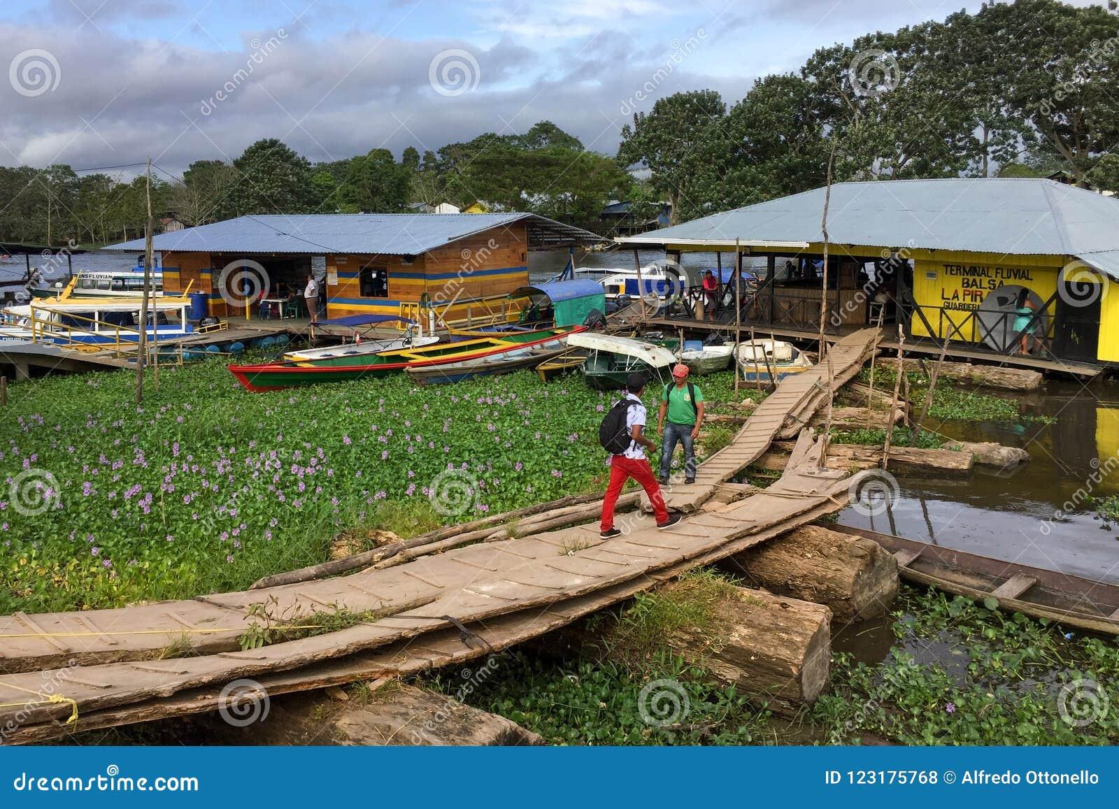 Ключистый стержень на Амазонке в городке Leticia, Колумбии