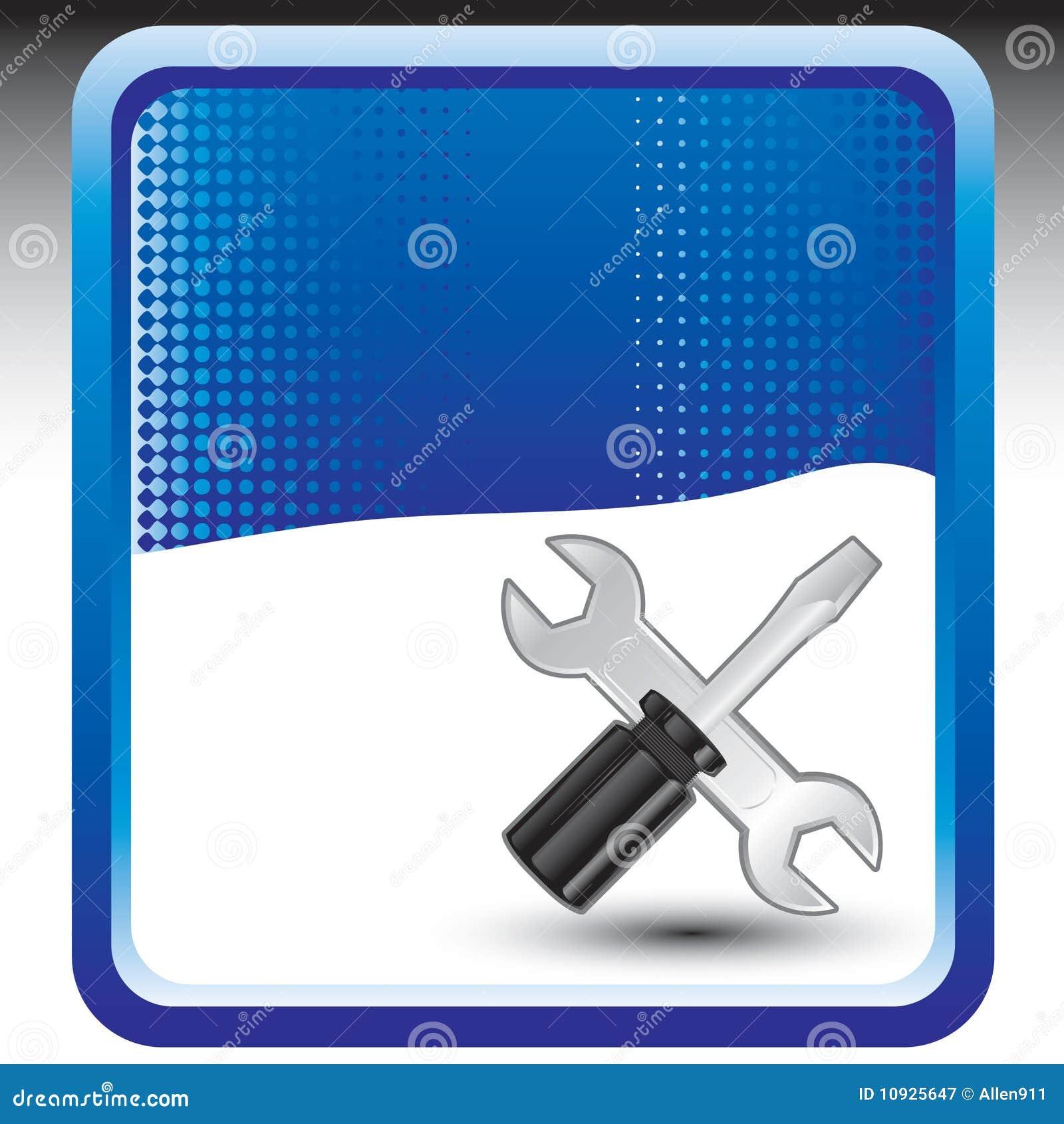ключ голубого halftone знамени screwdrive