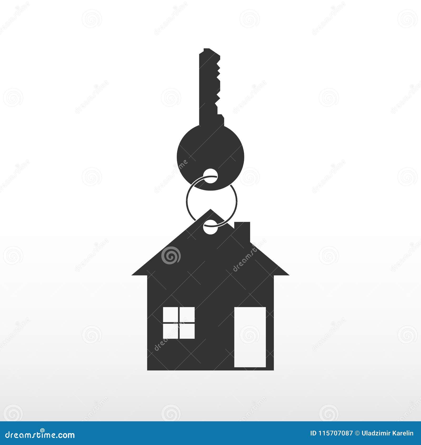 Ключ с домом Дом приобретения, приобретение недвижимости Риэлтор логотипа