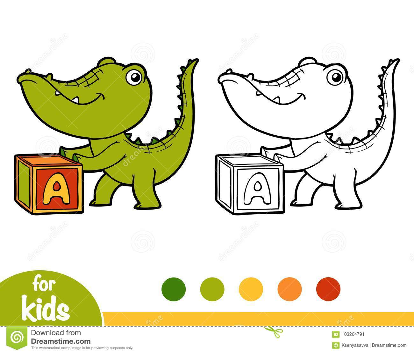 Книжка-раскраска: крокодилы