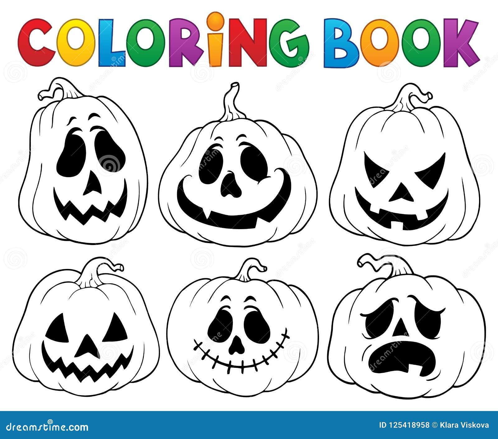 Книжка-раскраска с тыквами 3 хеллоуина