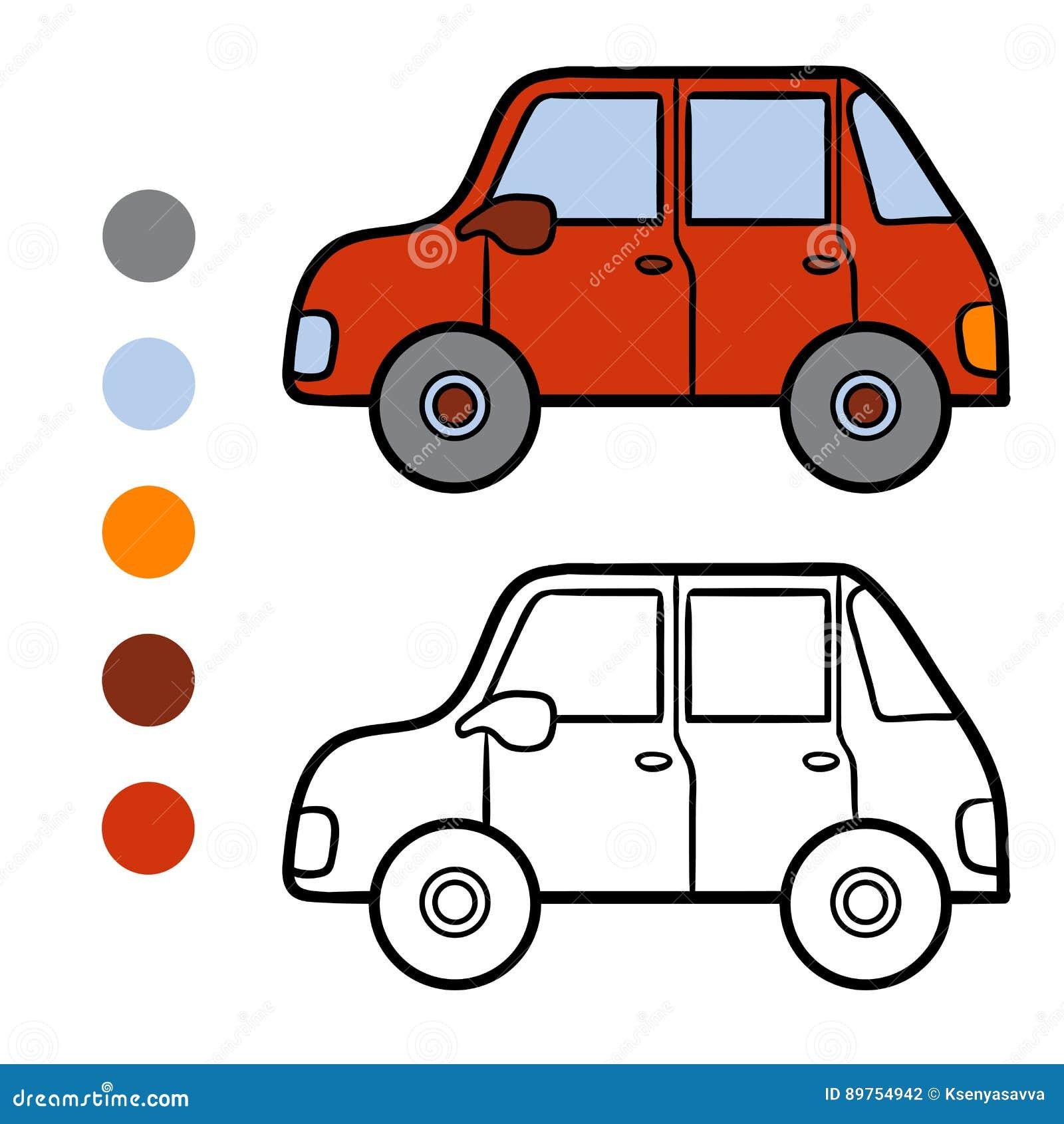 книжка раскраска для детей автомобиль иллюстрация вектора