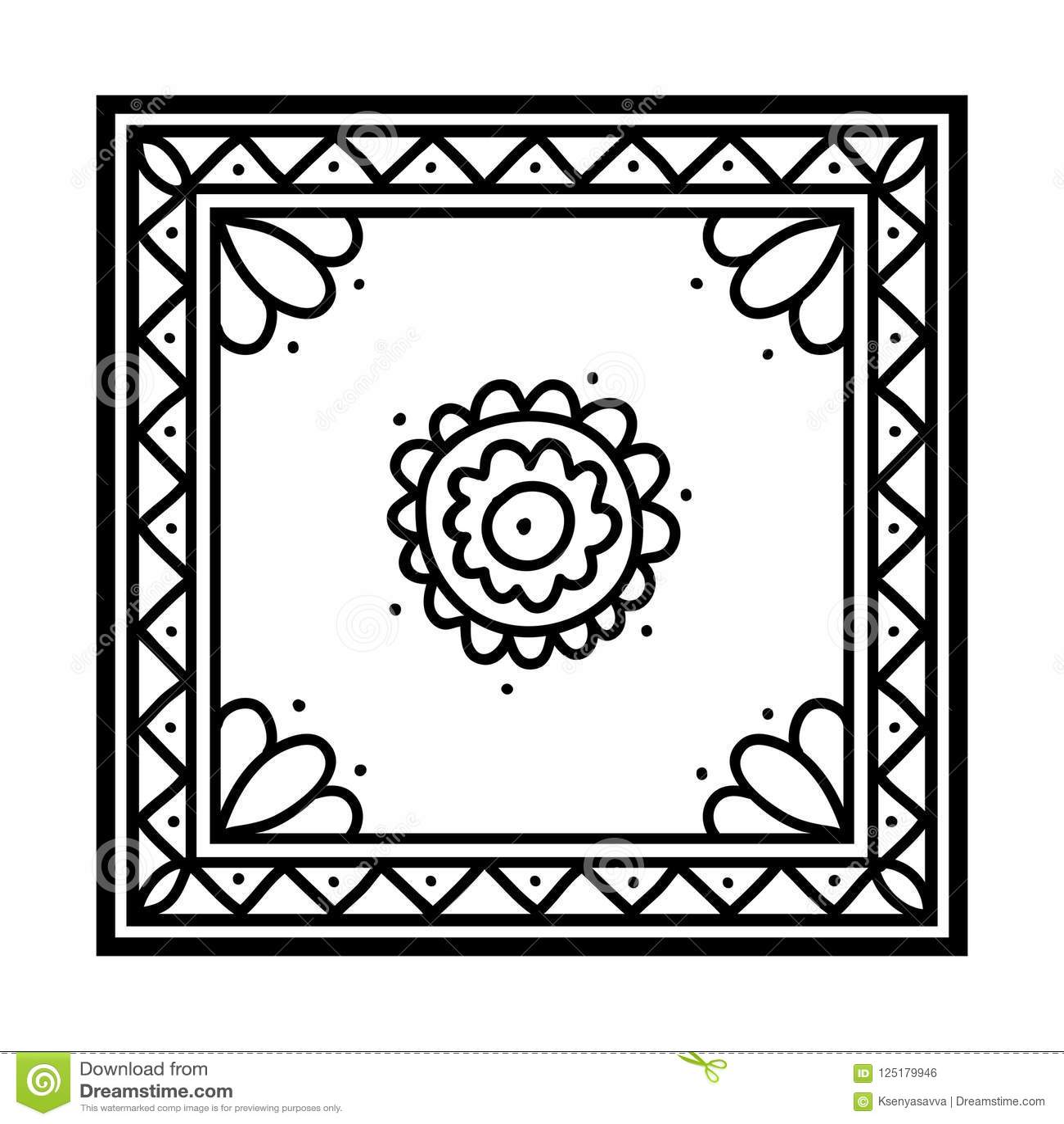 книжка раскраска Silk носовой платок иллюстрация вектора