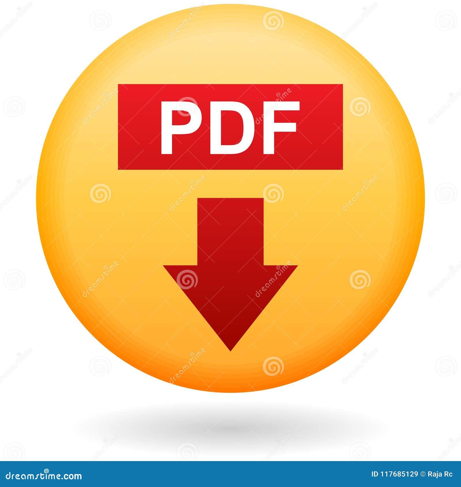 Кнопка загрузки PDF на белизне