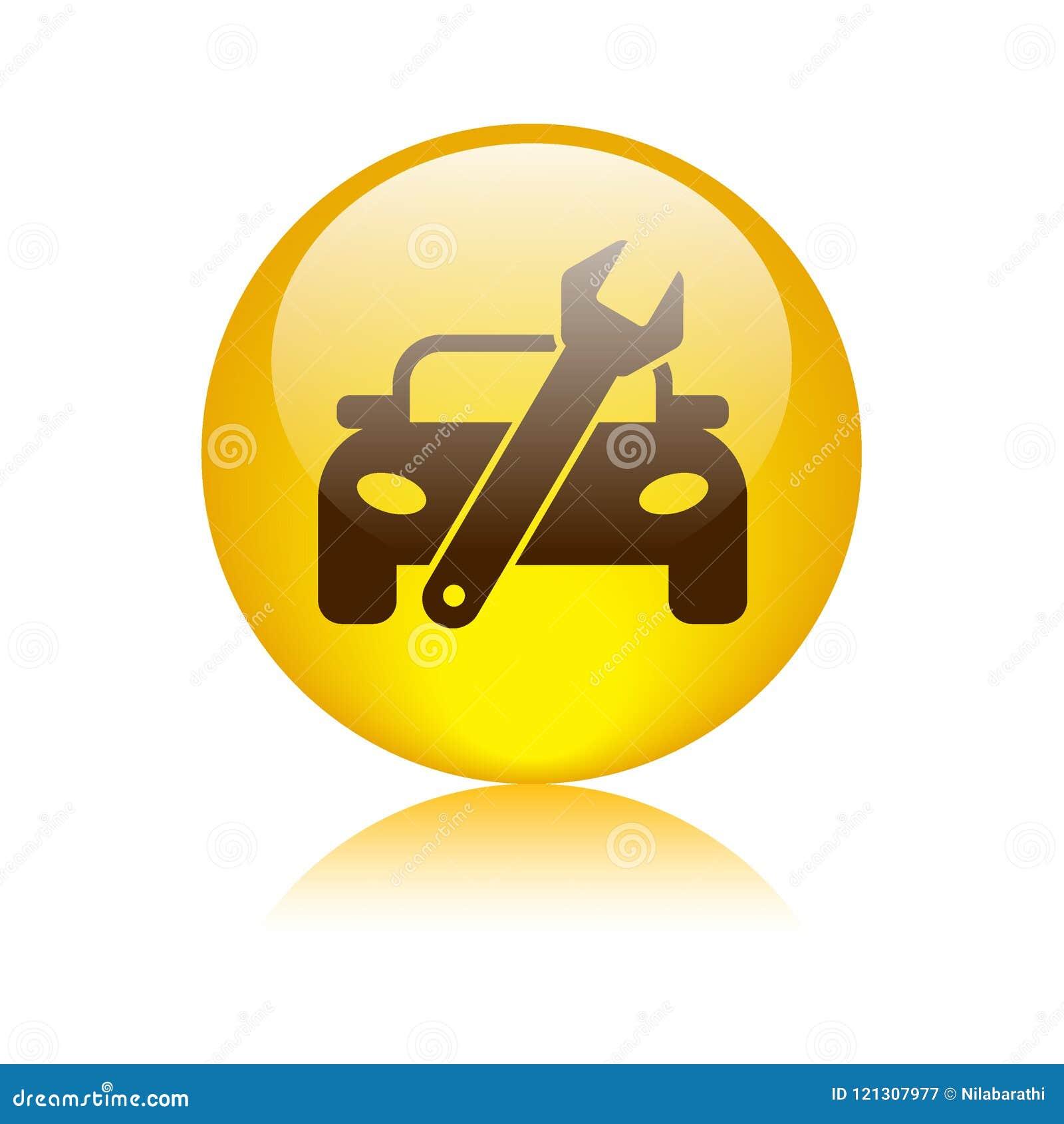 Кнопка значка ремонта автомобиля