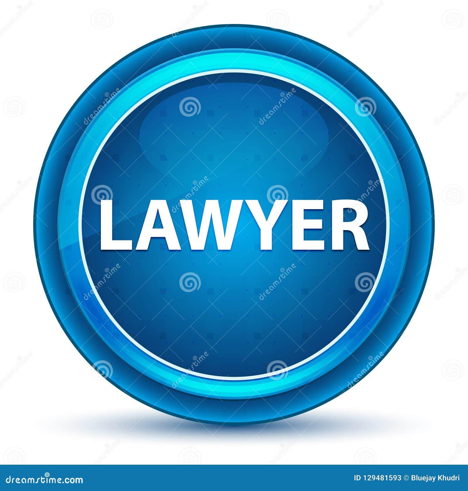 Кнопка зрачка юриста голубая круглая