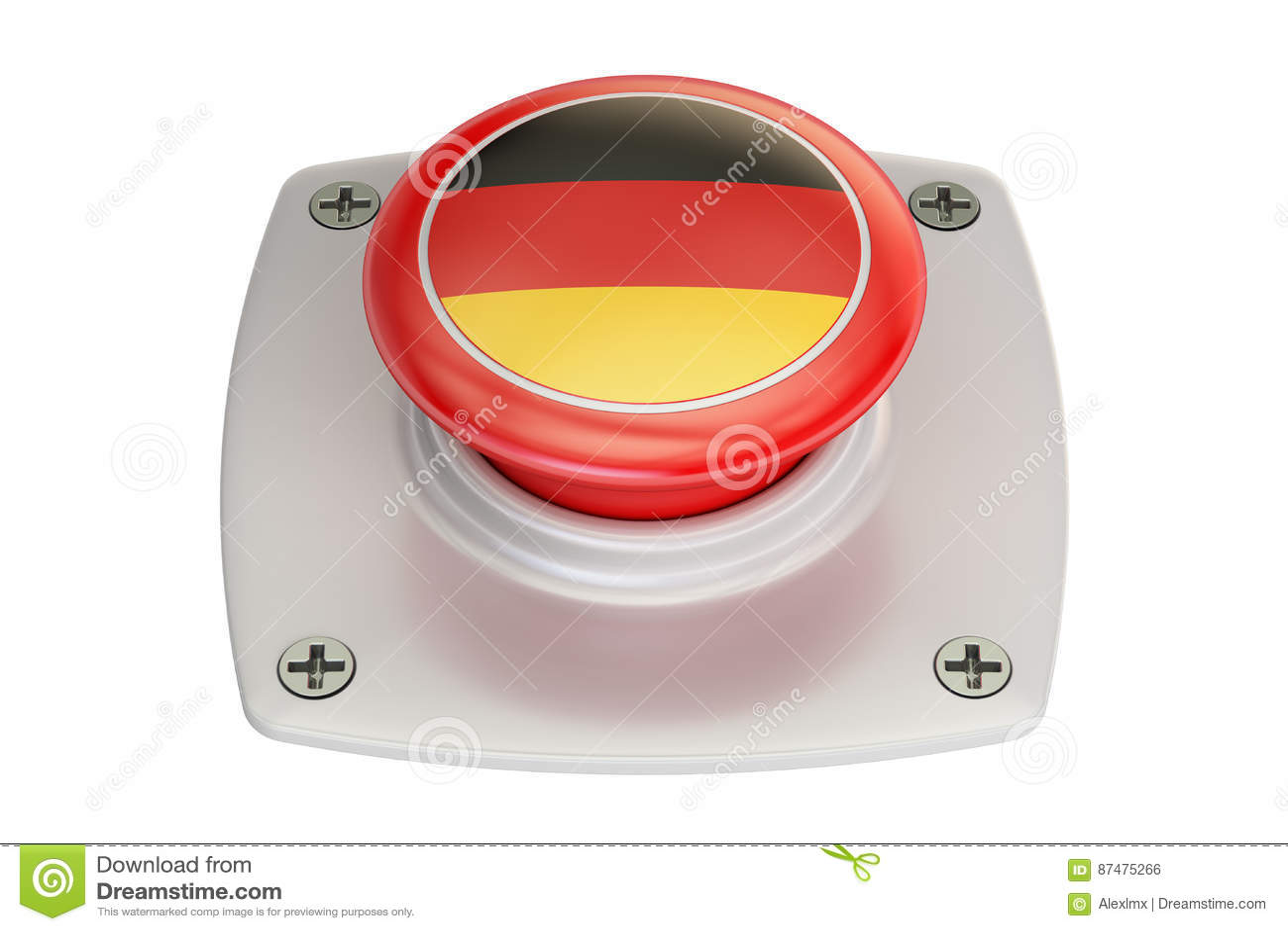 Кнопка флага Германии