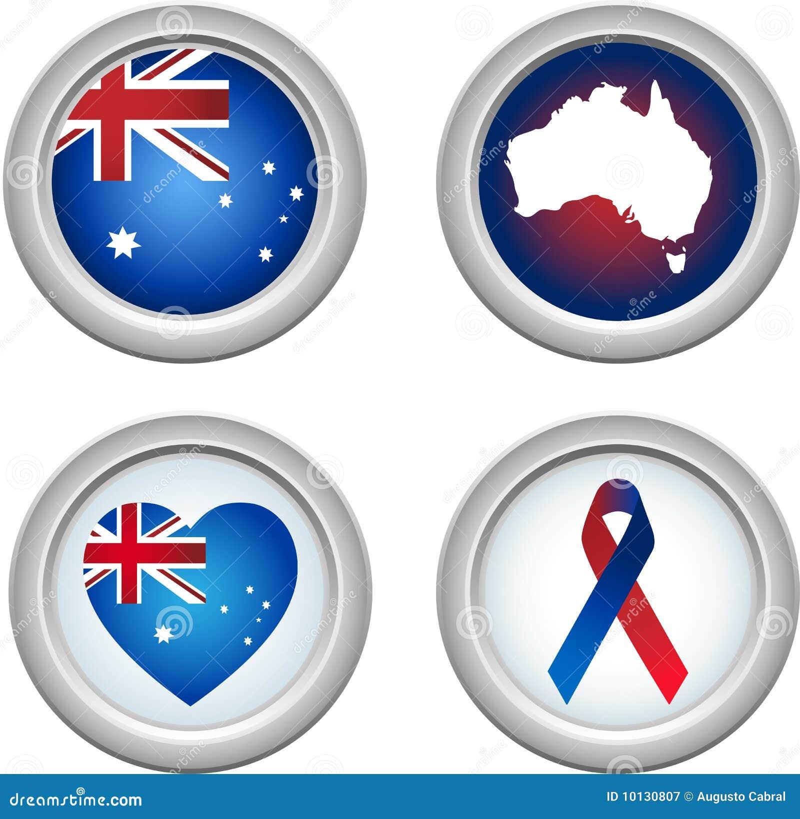 кнопки Австралии