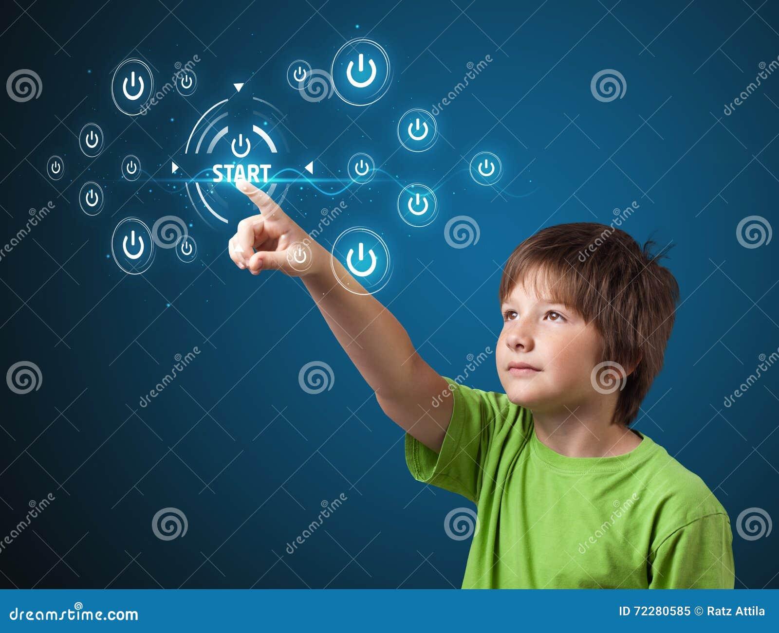 Download кнопки бизнесмена отжимая просто тип старта Стоковое Изображение - изображение насчитывающей самомоднейше, средства: 72280585