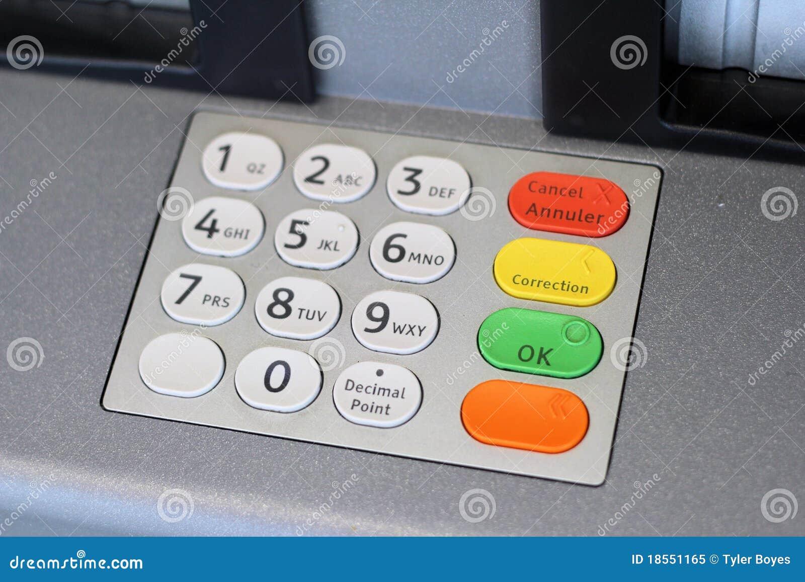 кнопочная панель atm