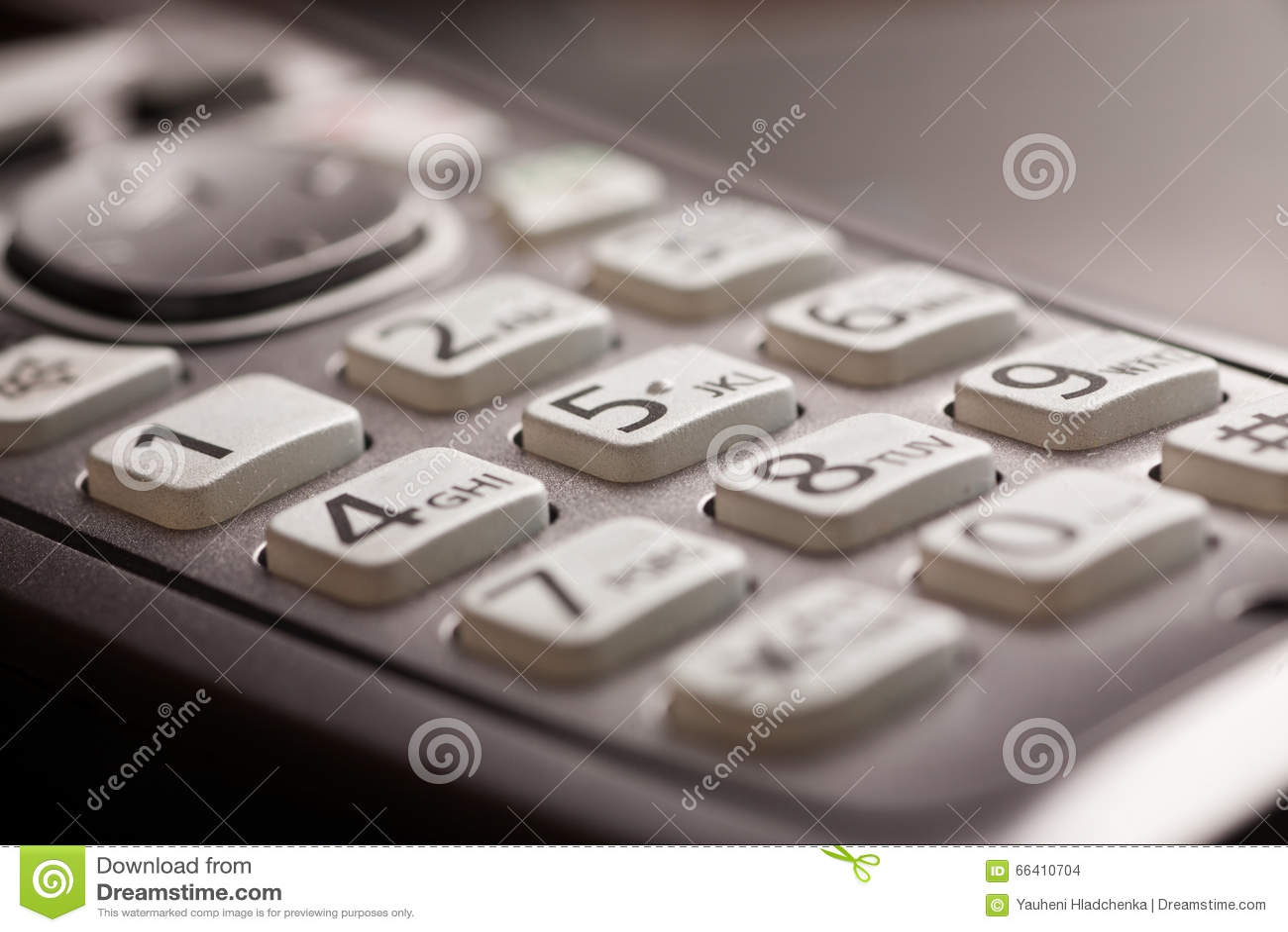 Кнопочная панель телефона с съемкой макроса конца-вверх писем
