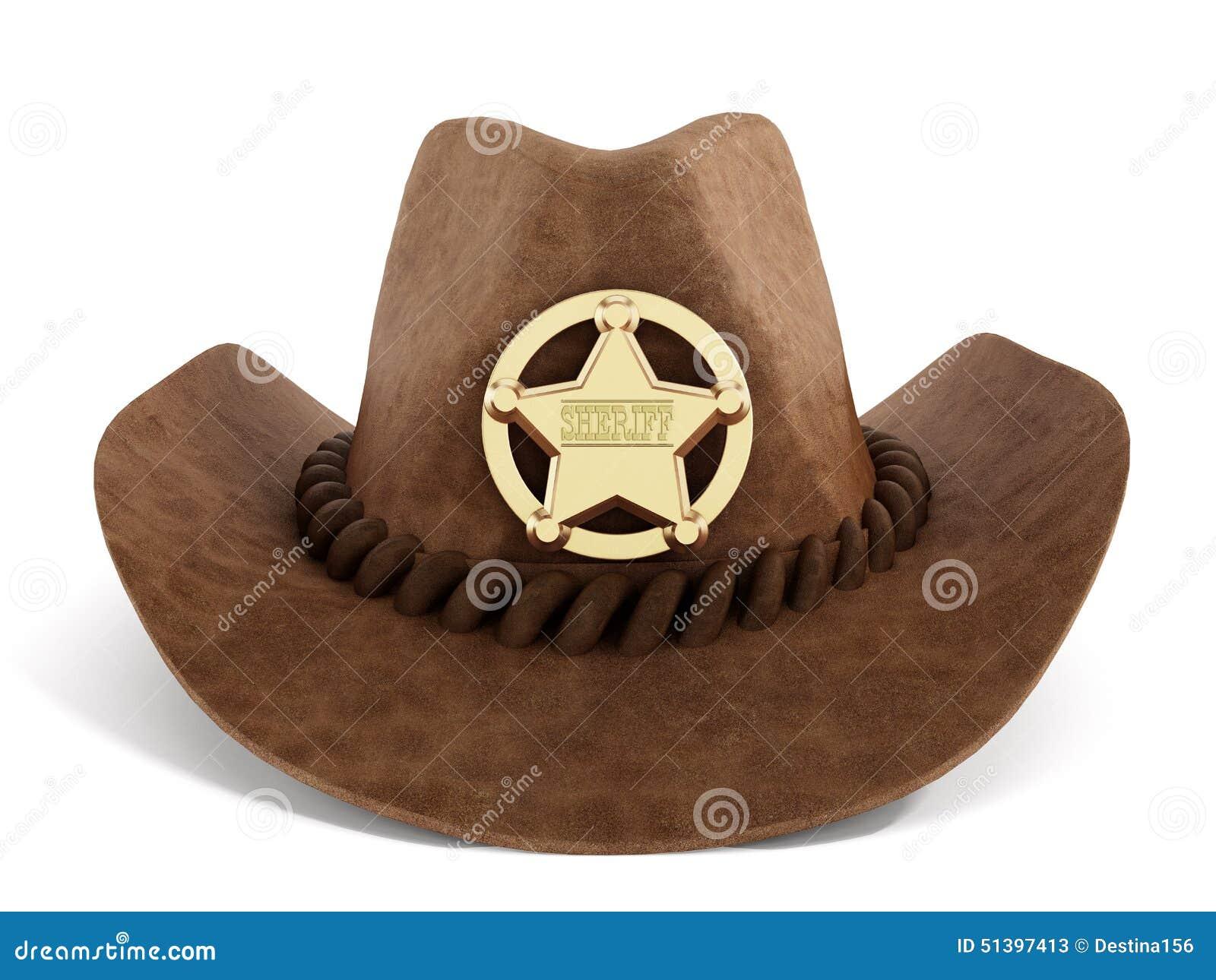 Ковбойская шляпа с значком шерифа