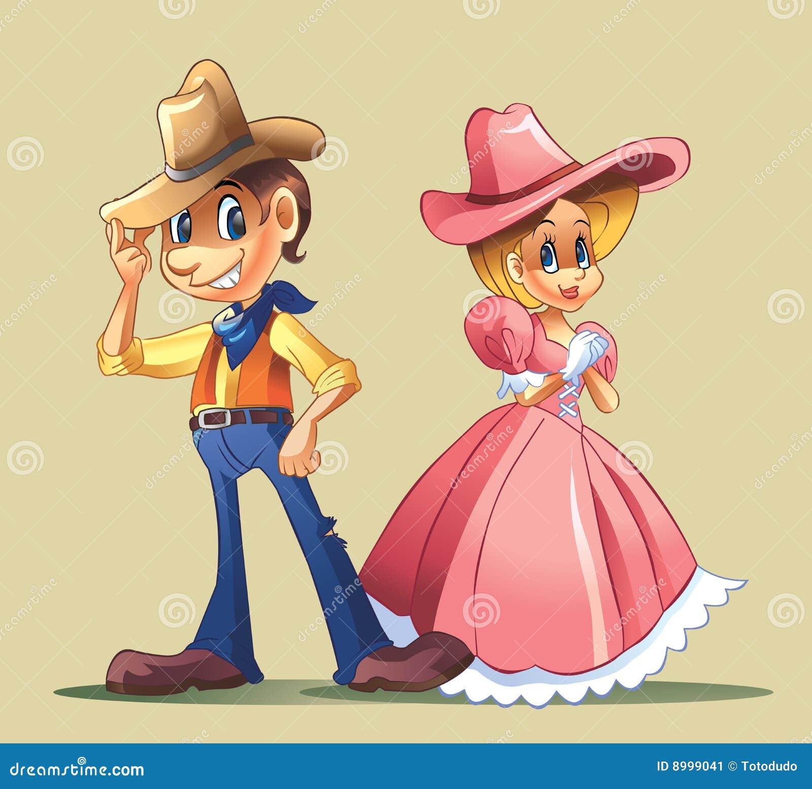 ковбой пар costume