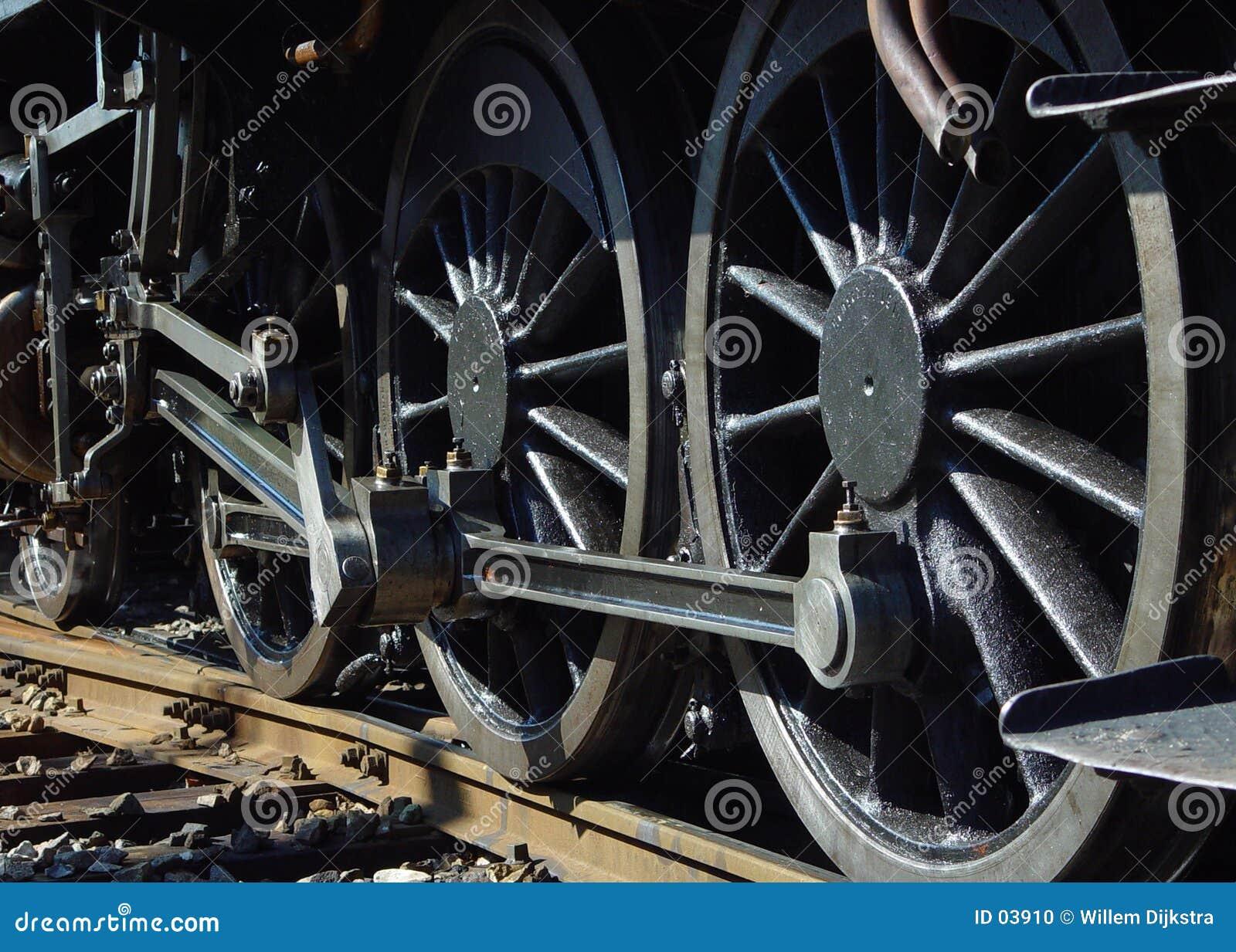 колеса пара двигателя