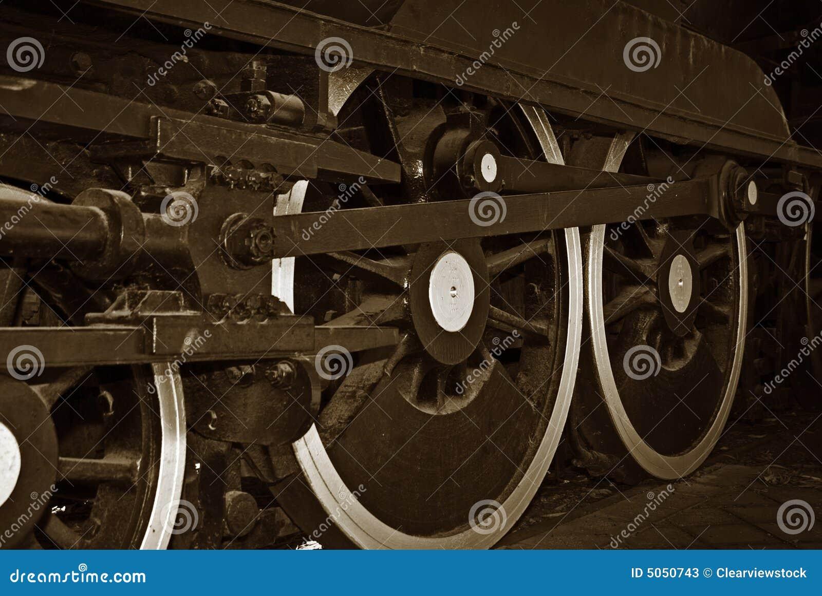 колеса поезда пара