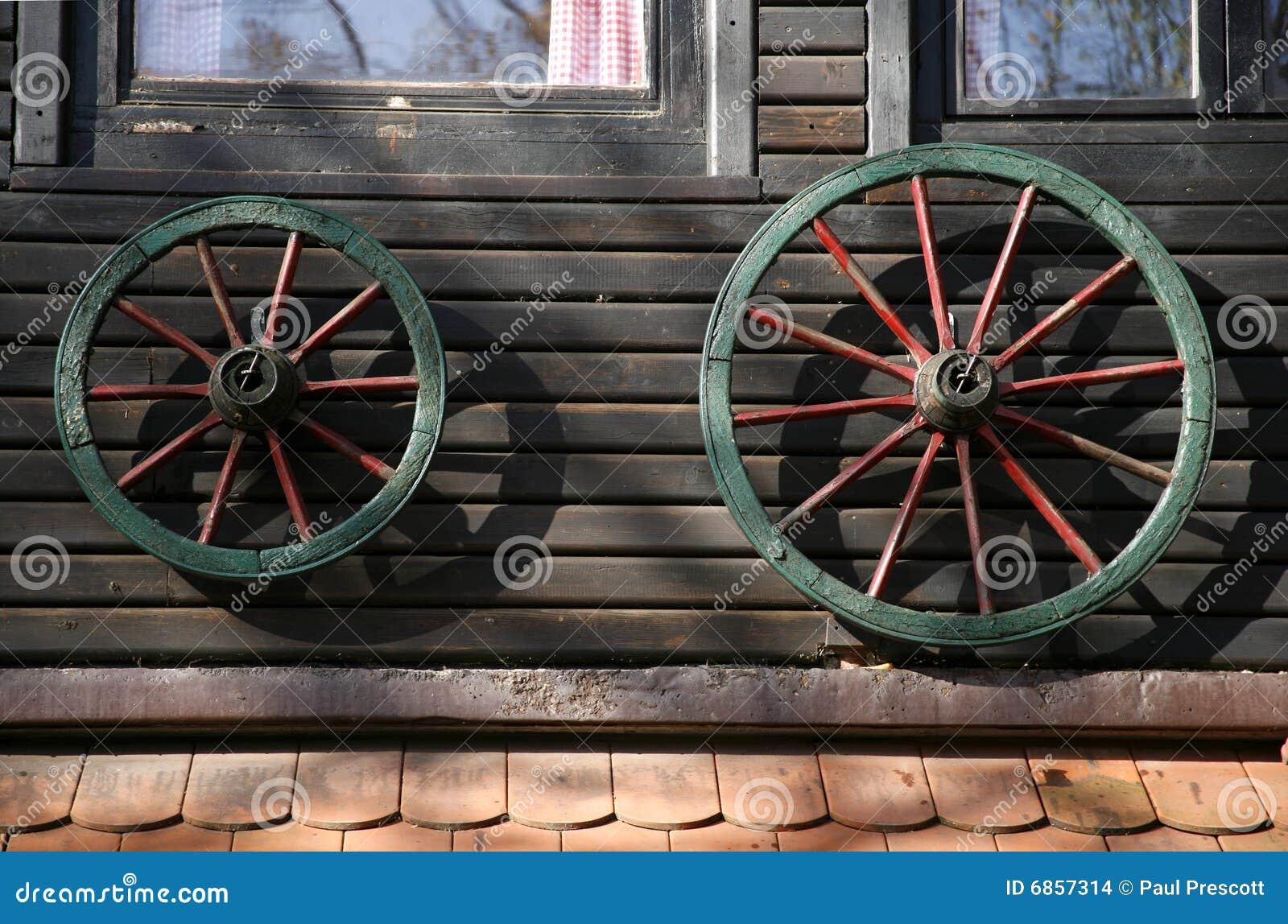 колесо дома украшения тележки